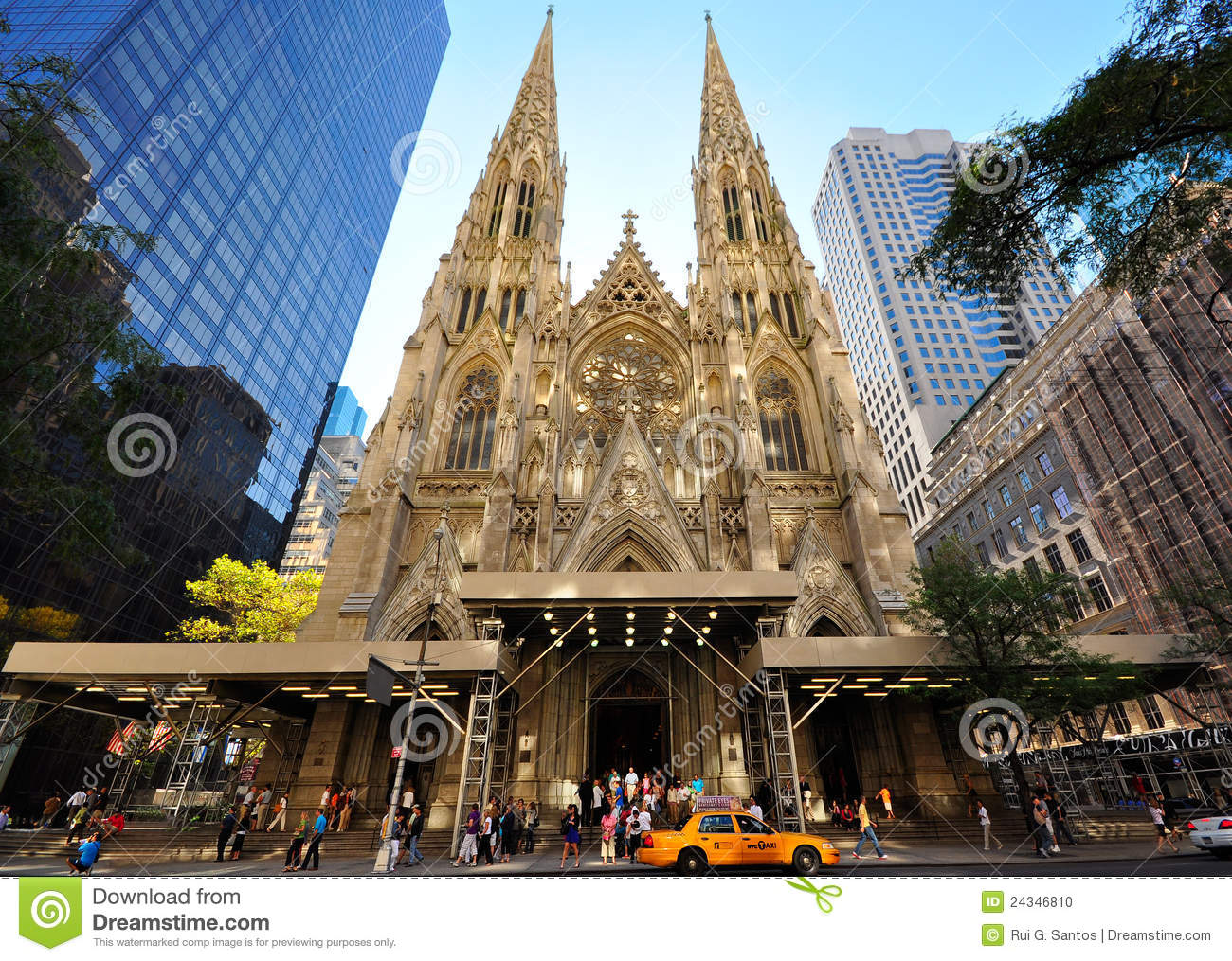 Saint Patricks Cathedral, NYC Editorial Image - Image of