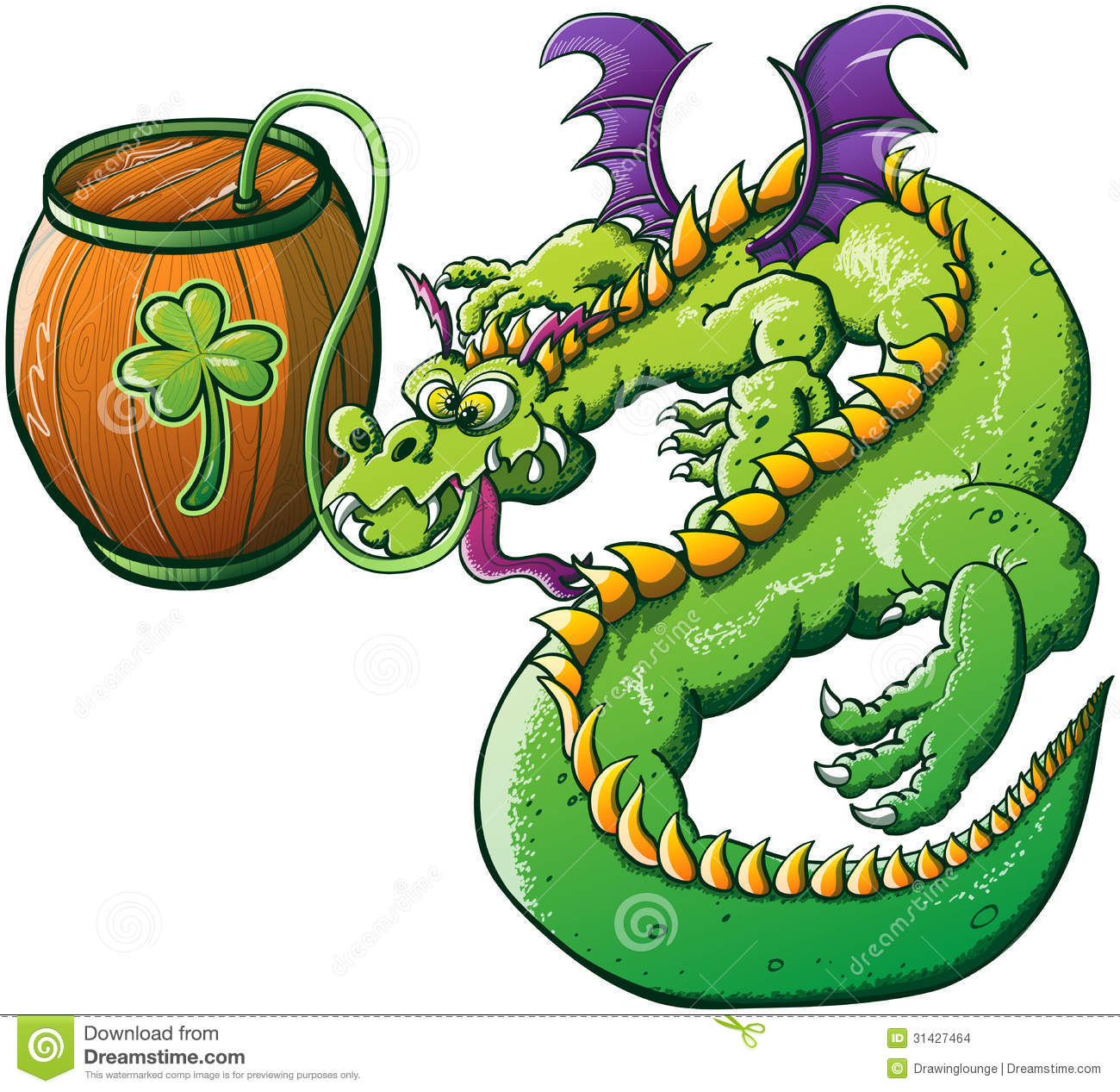 Saint Patricks Day Drunk Dragon Stock Images Image 31427464