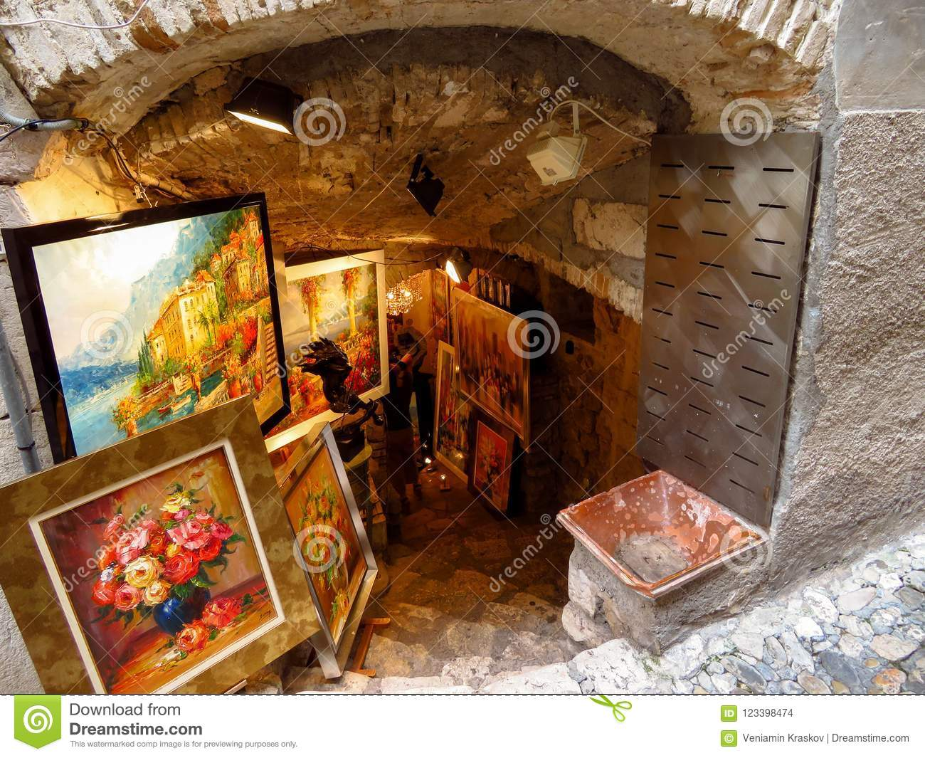 Saint Paul De Vence Art saint paul de vence - art shop editorial stock image - image