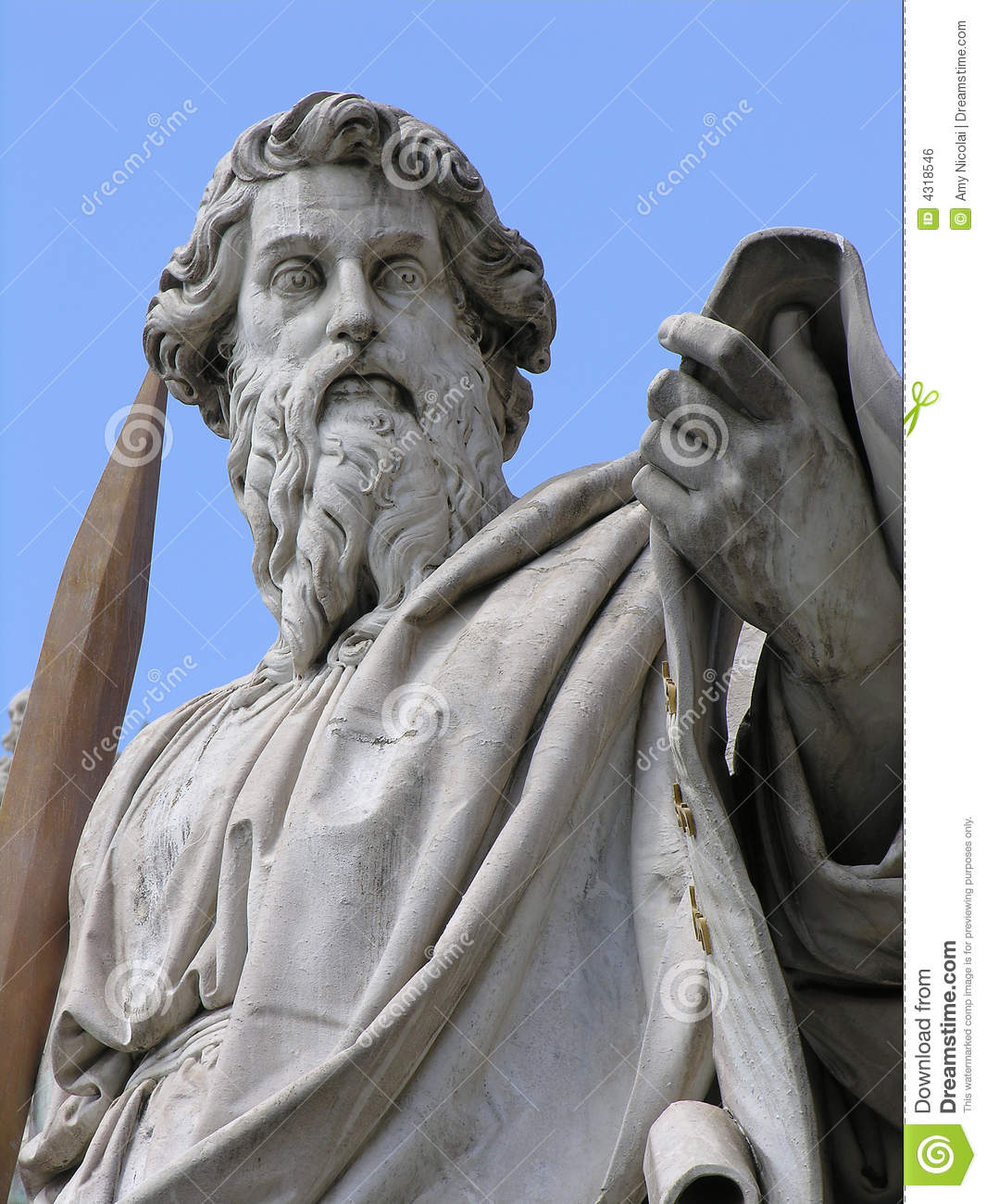 saint paul with sword royalty free stock image image