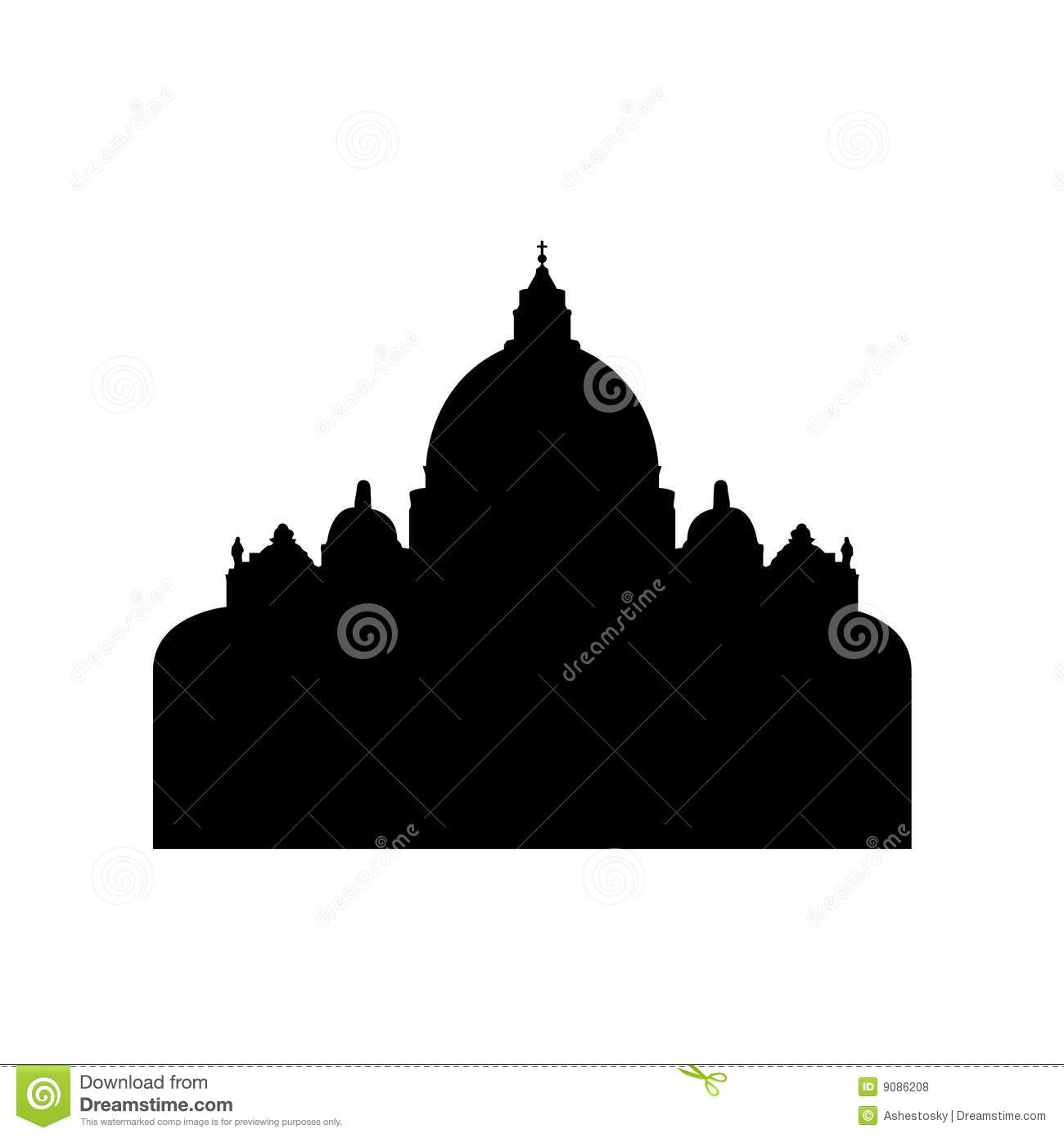 Saint Peter Basilica In Vatican City Royalty Free Stock Photos - Image ...
