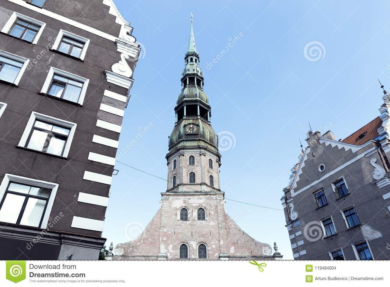 Church of St. Peter (Riga, Latvia): description, address, time of work