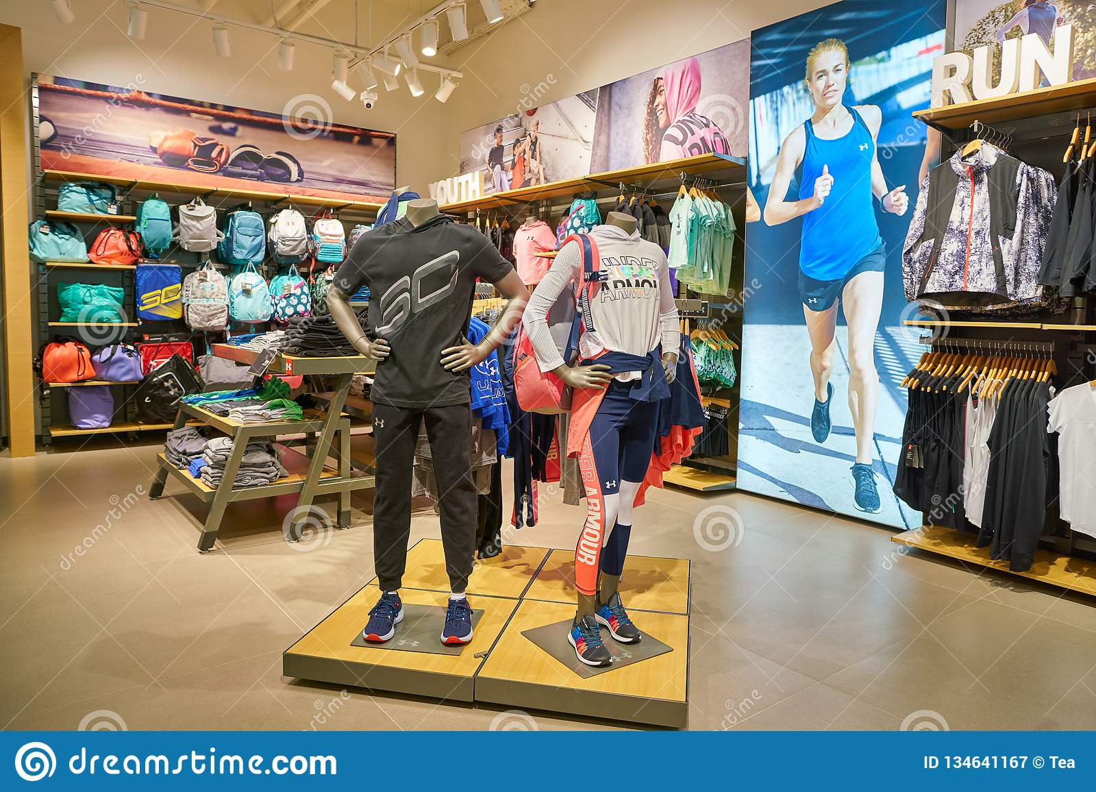 f6981dc2a706 Under Armour store editorial photography. Image of inside - 134641167