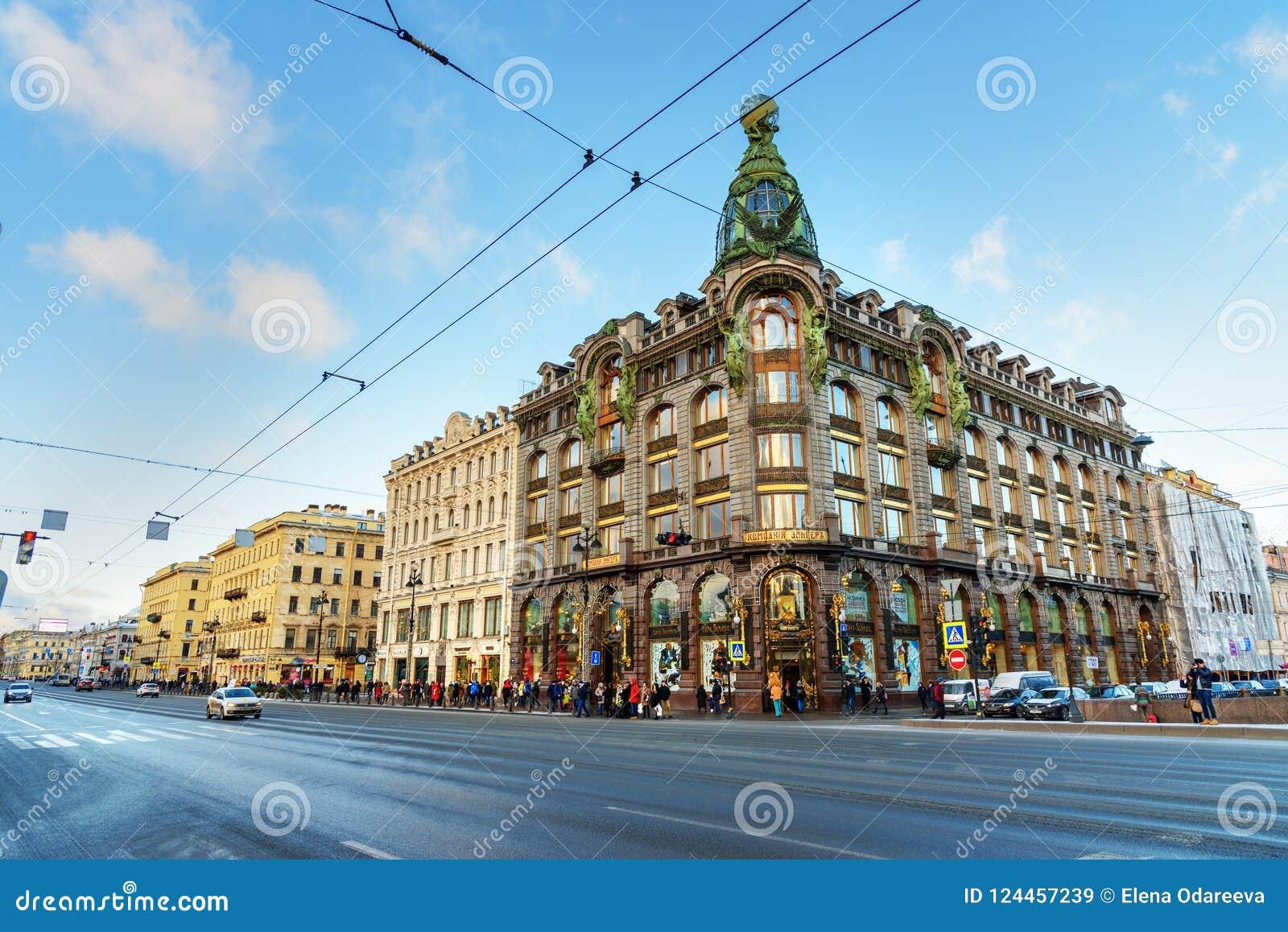Singer House Or Singer Company Buildingon On Nevsky Prospekt