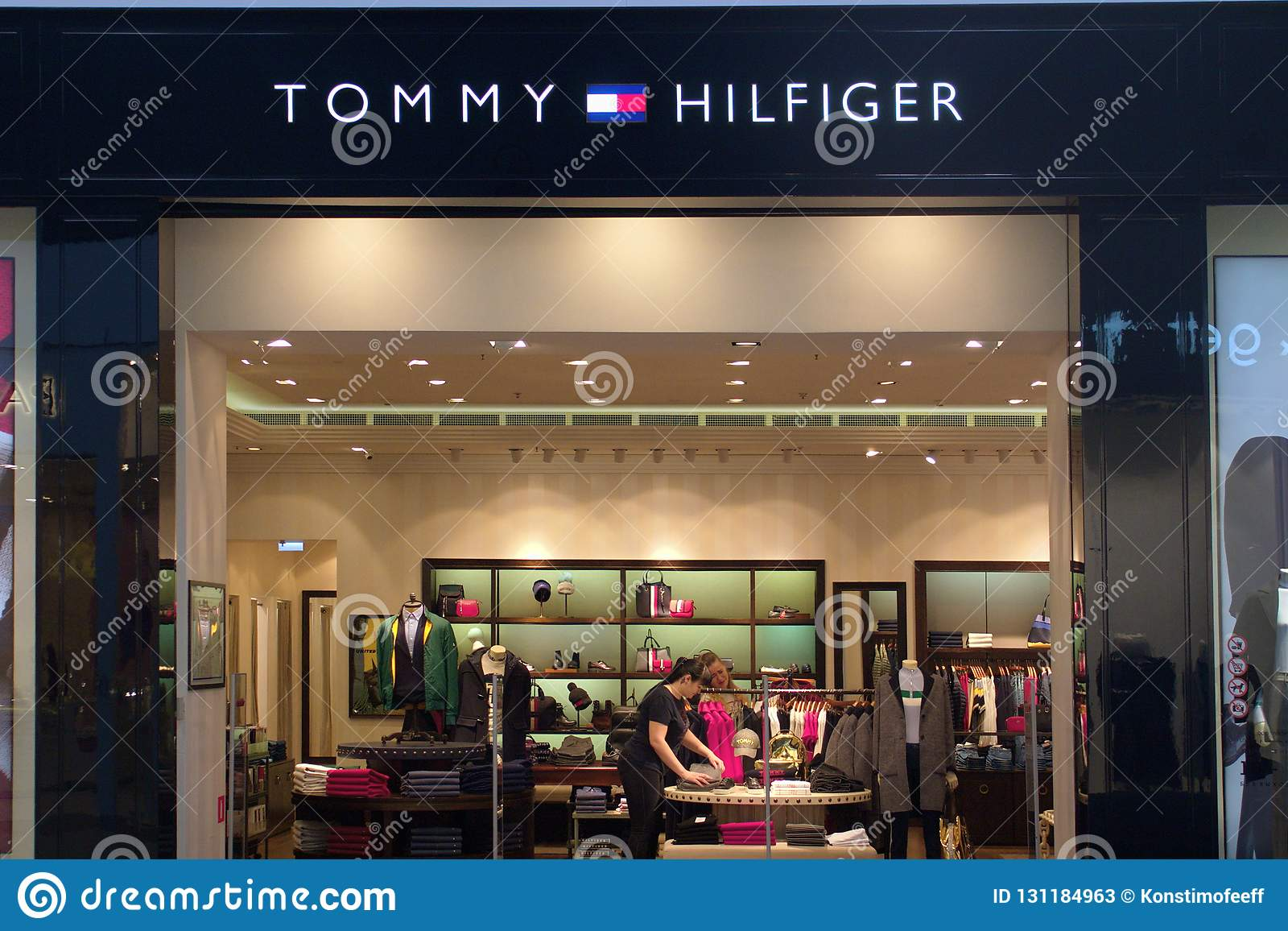 c29bfd0d Saint Petersburg, Russia - October 10, 2018: Tommy Hilfiger store in the  shopping center.