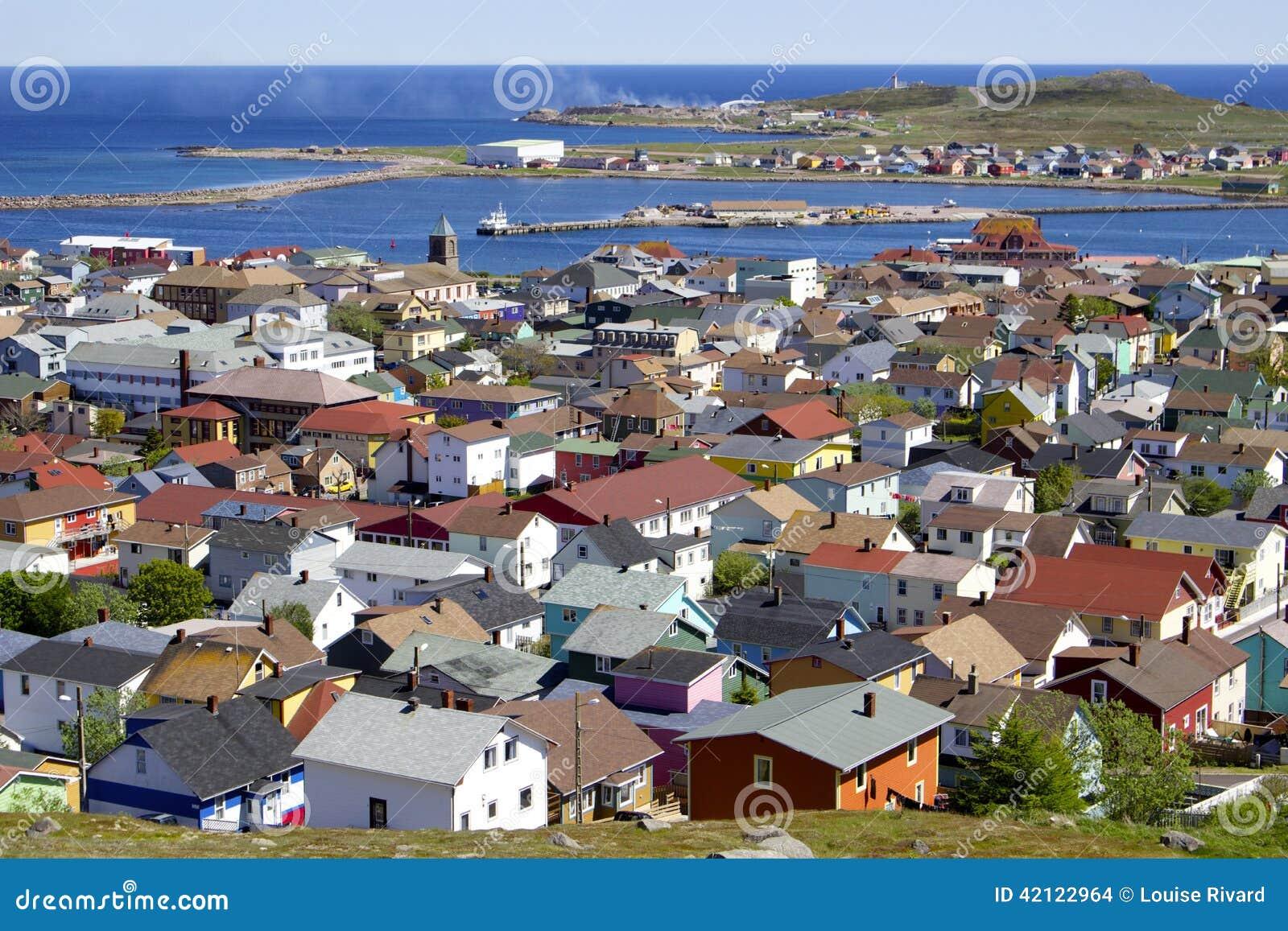 Saint- Pierre Island Houses Stock Photo - Image: 42122964
