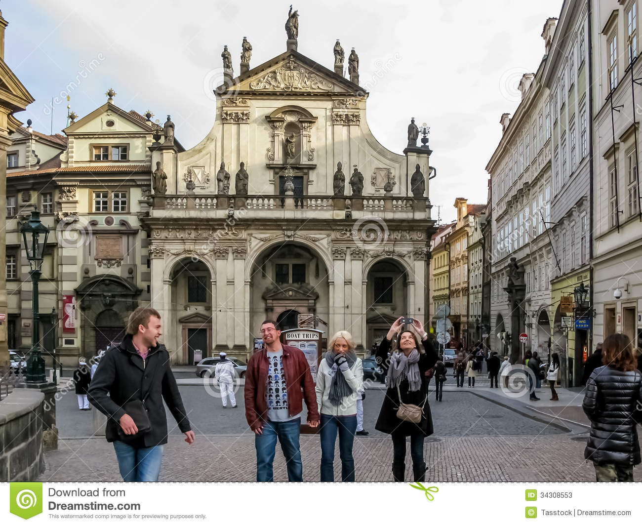 Saint salvator church in prague 39 s old town editorial stock for Where is prague near