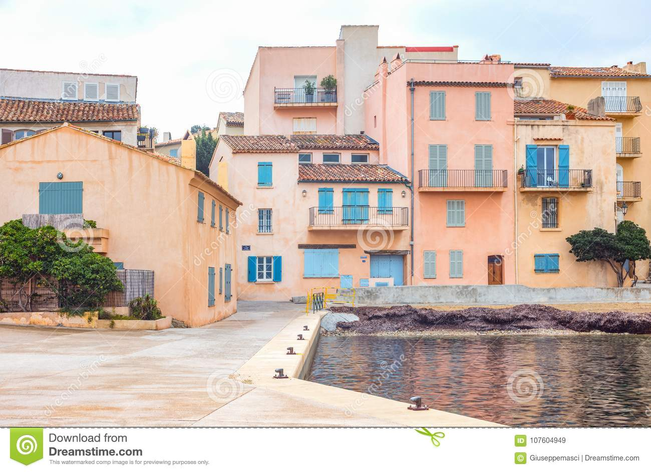 Some Famous Places On The Cote D Azur Stock Image Image Of