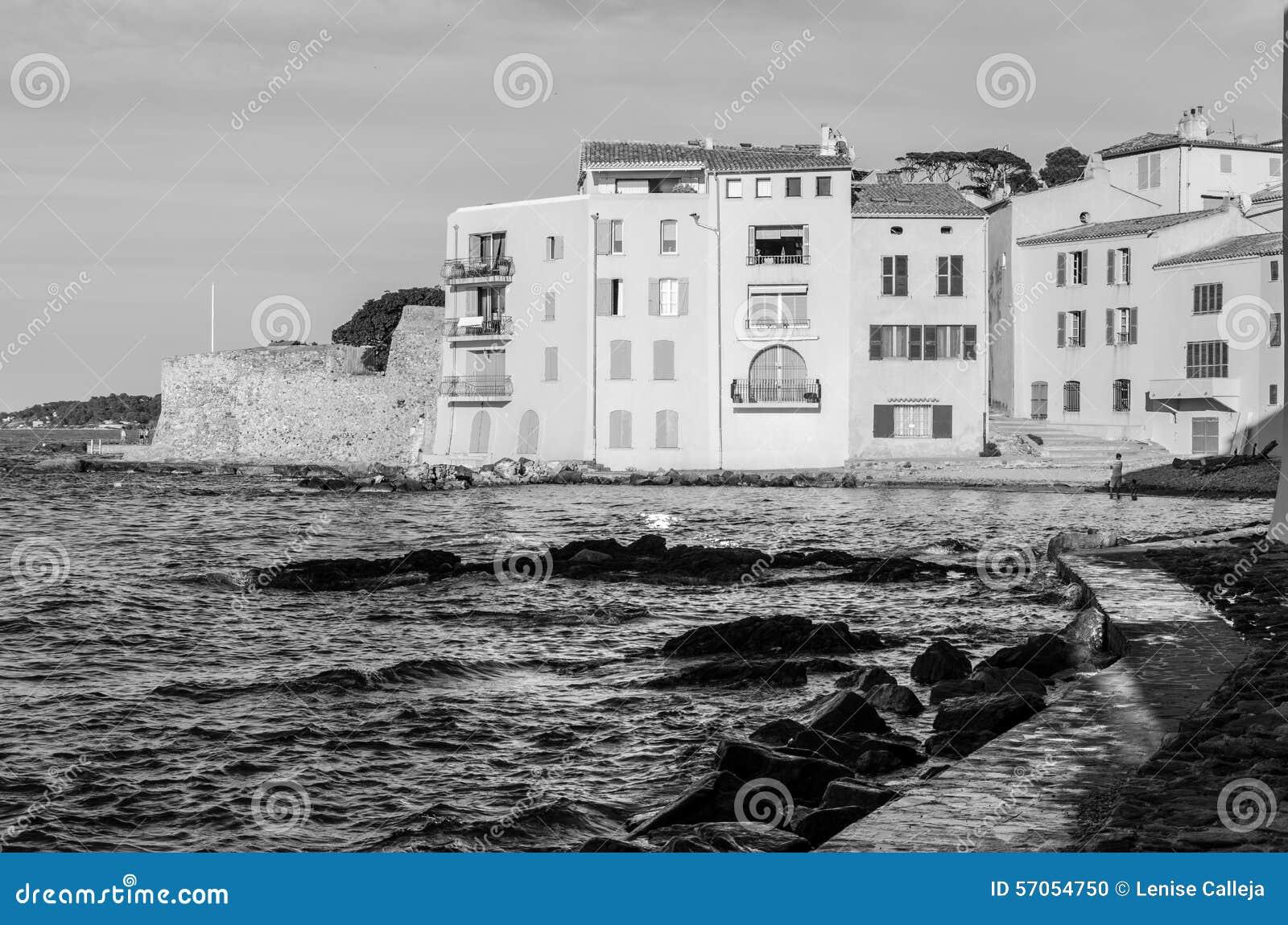 Saint Tropez -Huizen in de Provence, Frankrijk