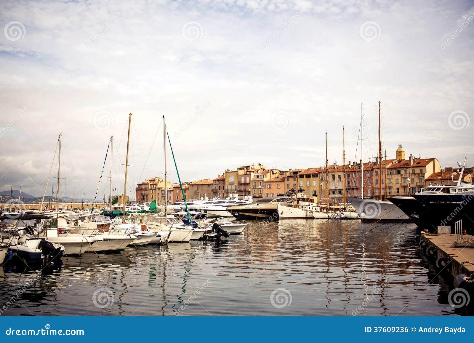 Saint Tropez Port France Stock Photo Image Of Blue 37609236