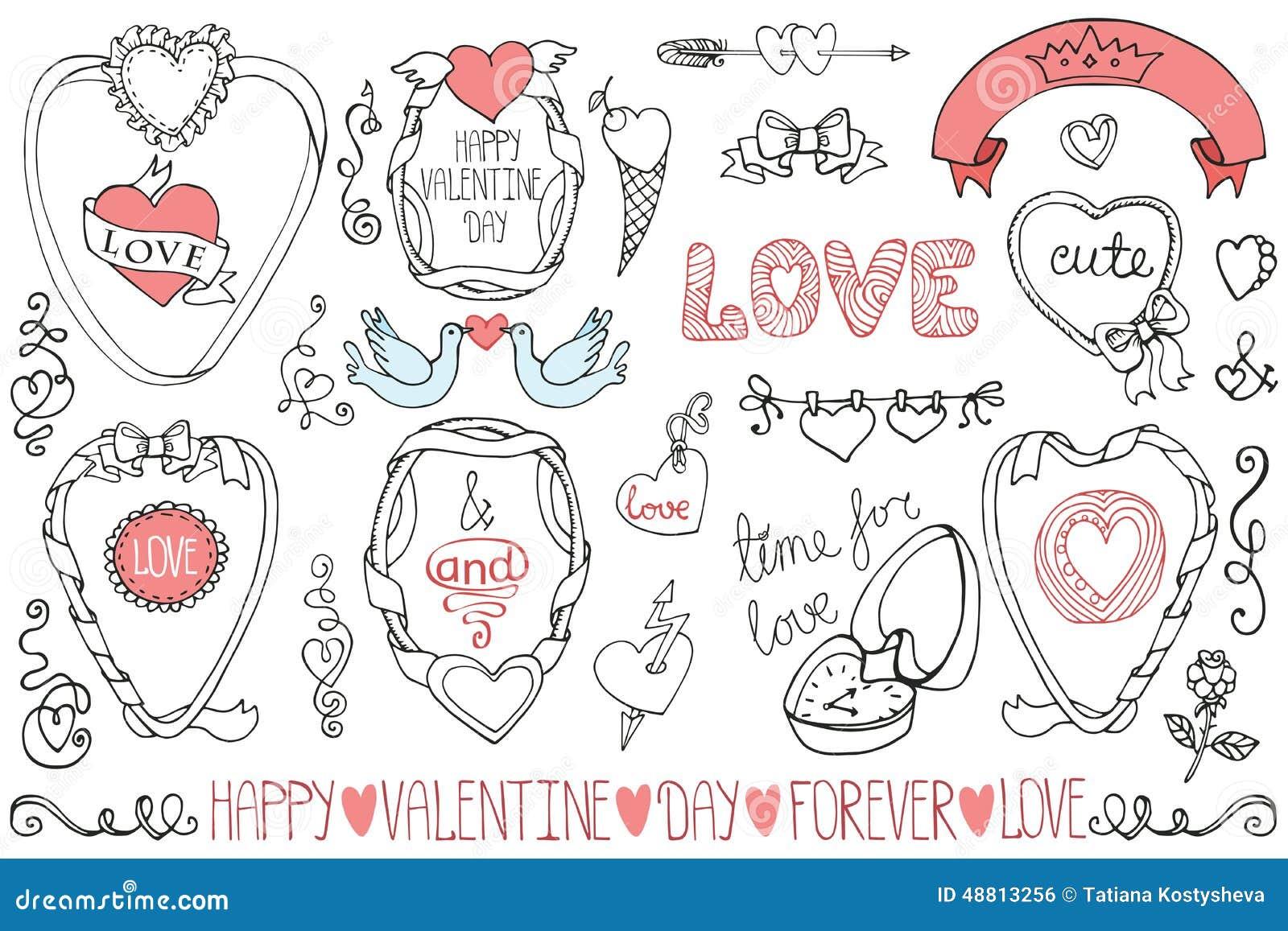 Saint valentin pousant des cadres l ment de d cor - Cadre photo pour saint valentin ...