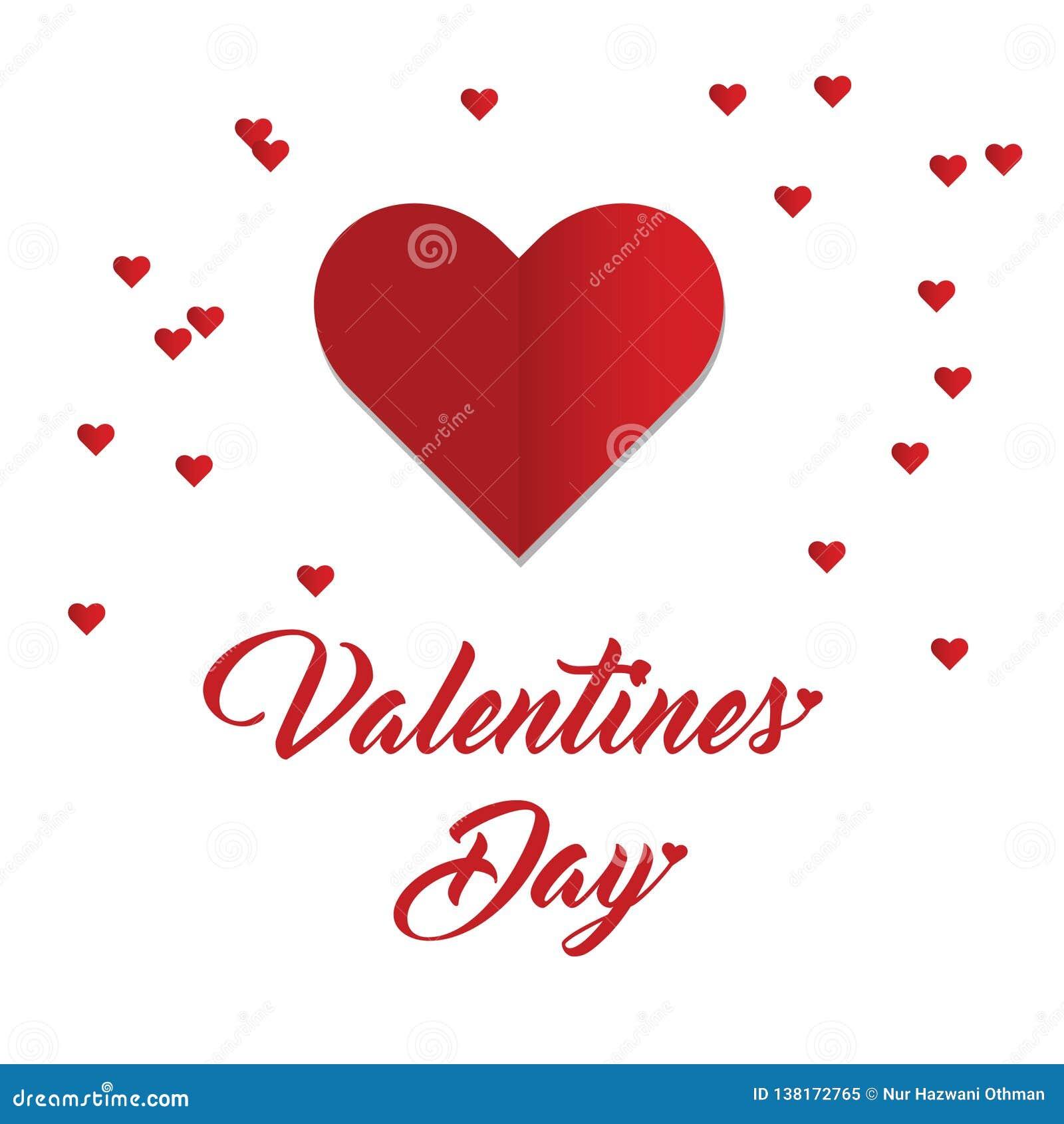 Saint-Valentin heureuse avec la forme de coeur
