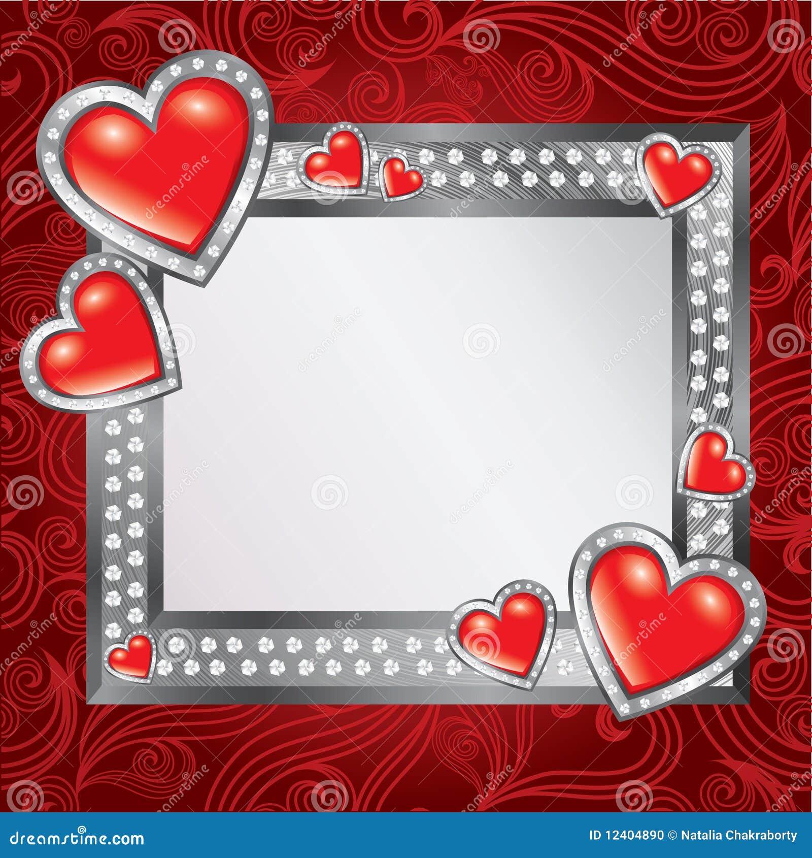 Saint Valentine\'s Day Frame Stock Vector - Illustration of letter ...
