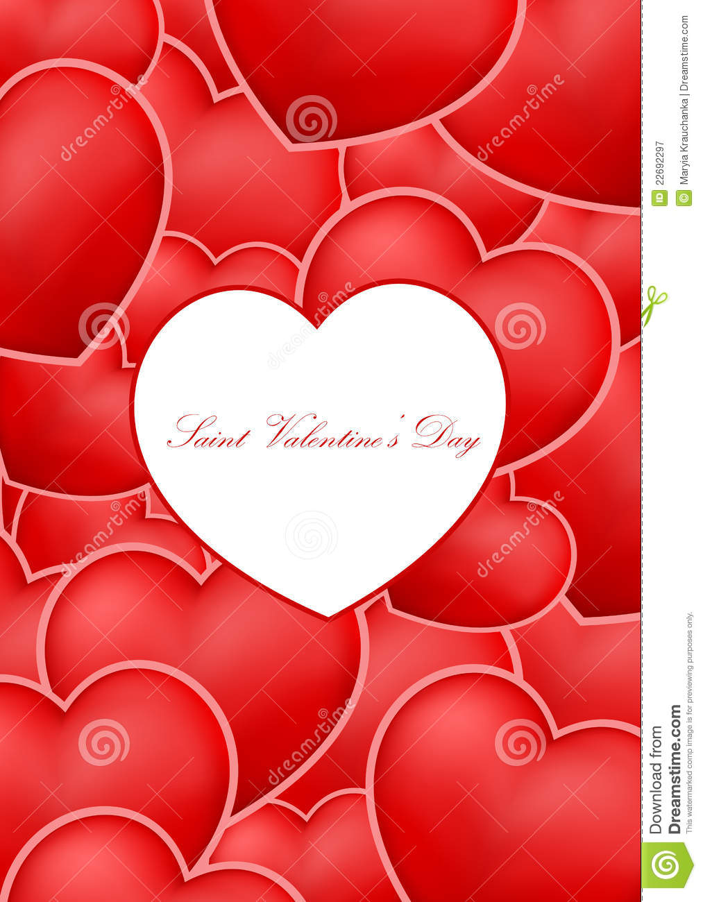 Saint Valentines Day Greeting Card Royalty Free Photography – Saint Valentine Card