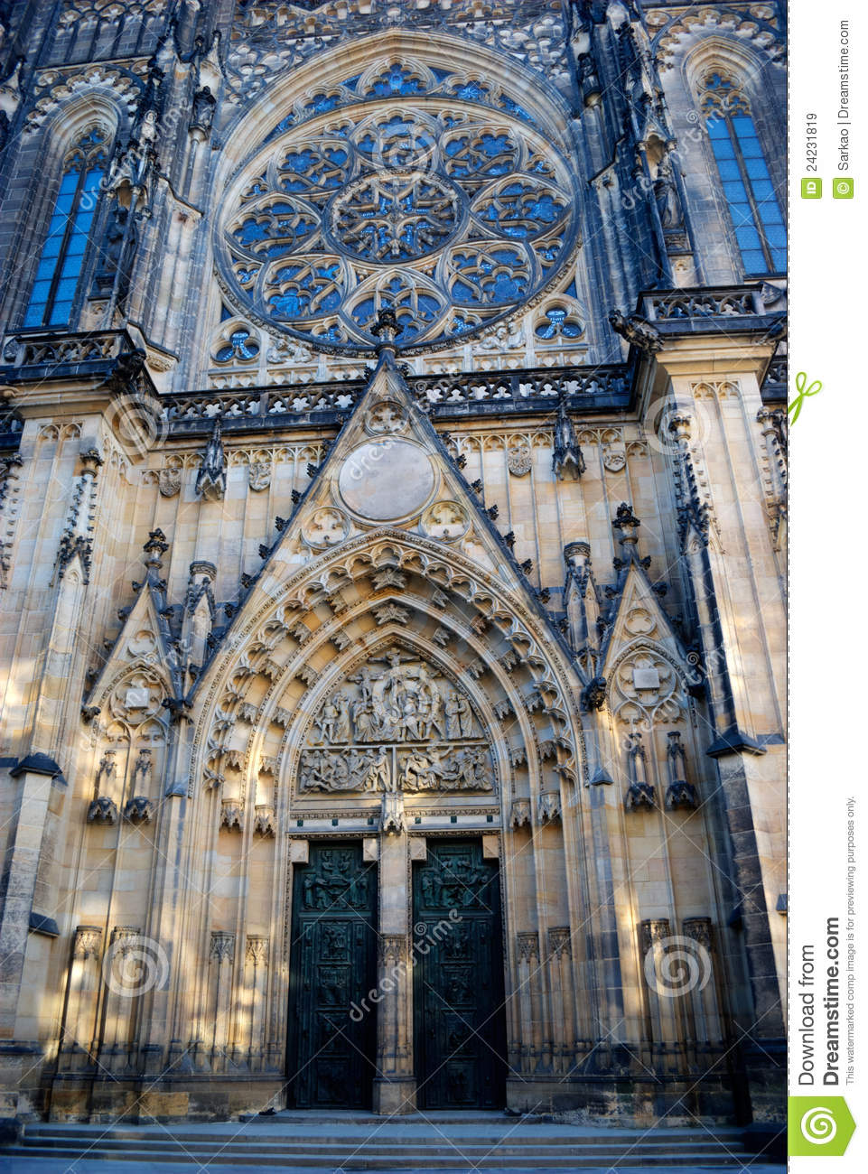 Saint vitus cathedral prague royalty free stock images for Door z prague