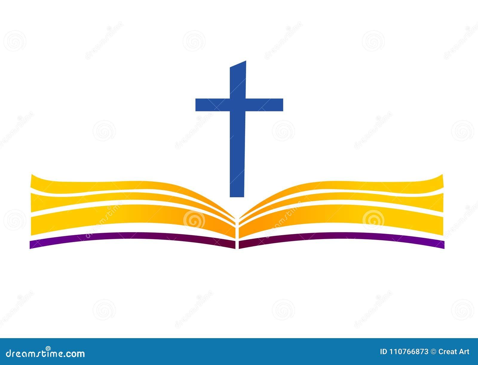 Sainte Bible avec la croix Ouvrez le livre et la croix