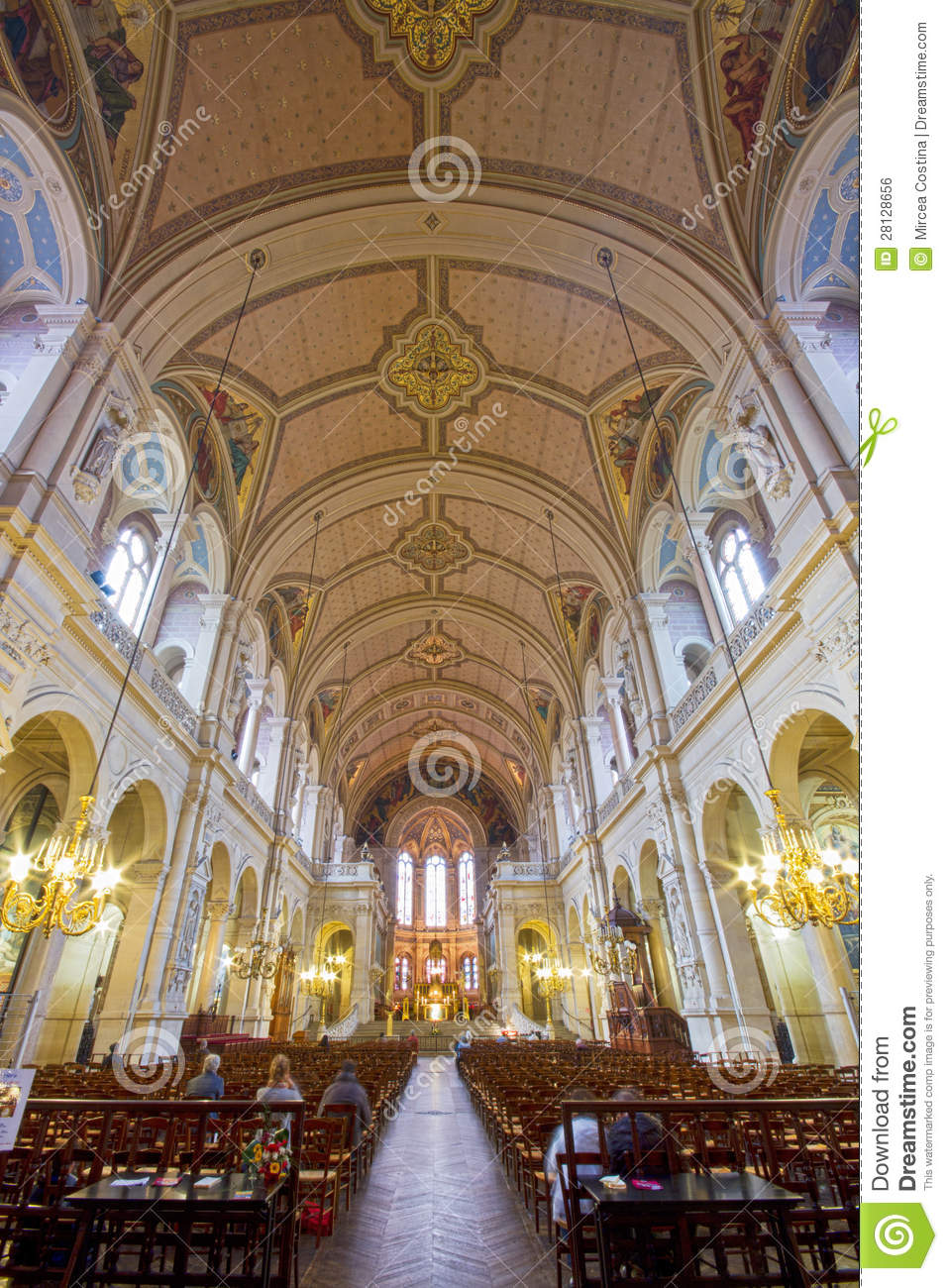 Sainte-Trinite Church Interior View. Editorial Photo ...