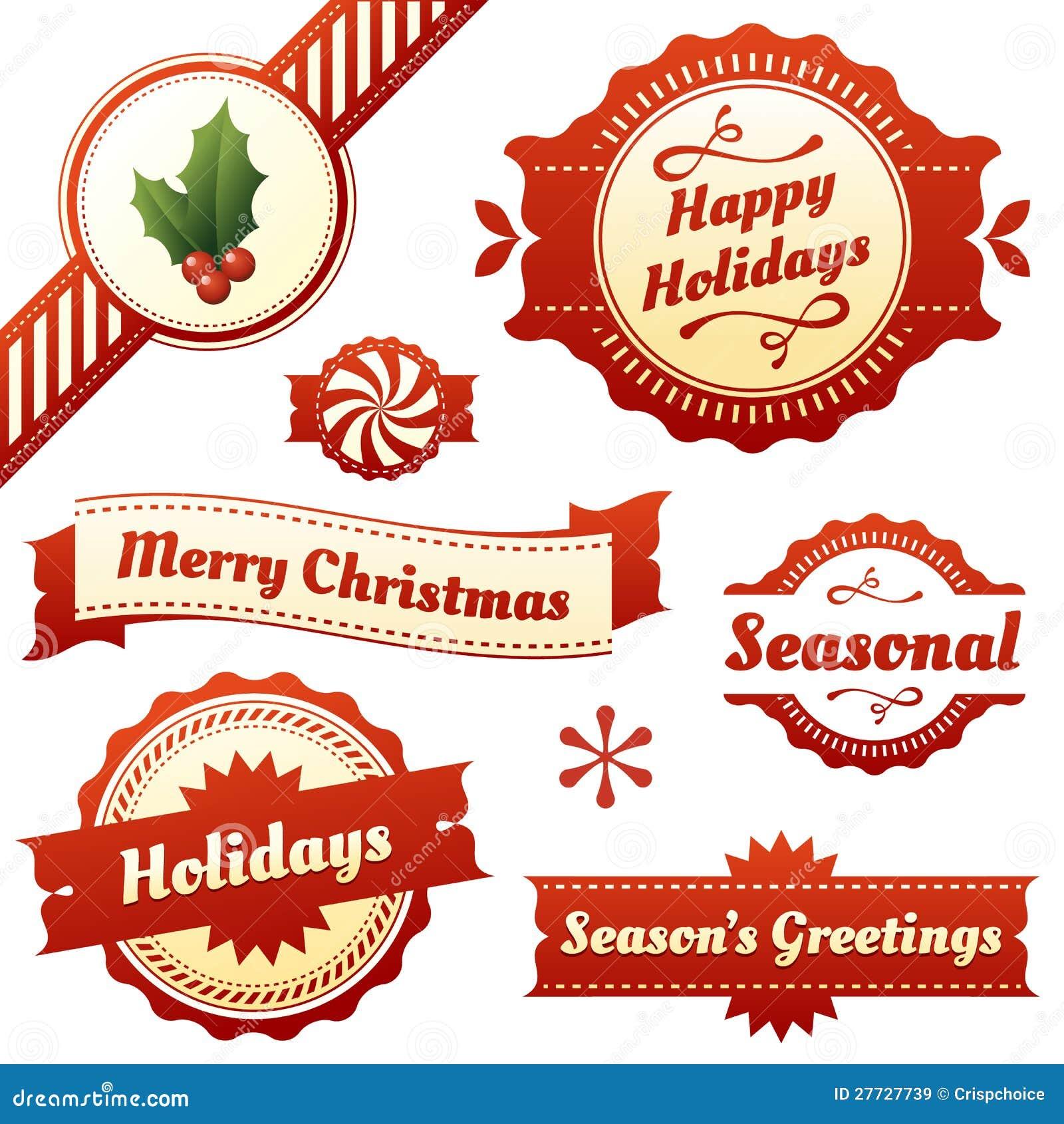 Saisonkennsätze, Marken und Fahnen für Feiertage