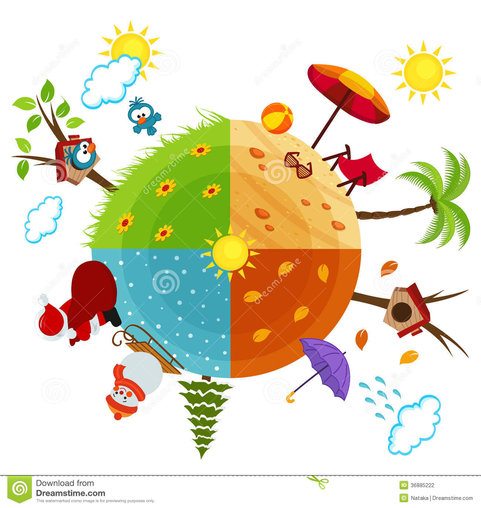 Saisons de l 39 ann e photographie stock image 36885222 - Saisons de l annee ...