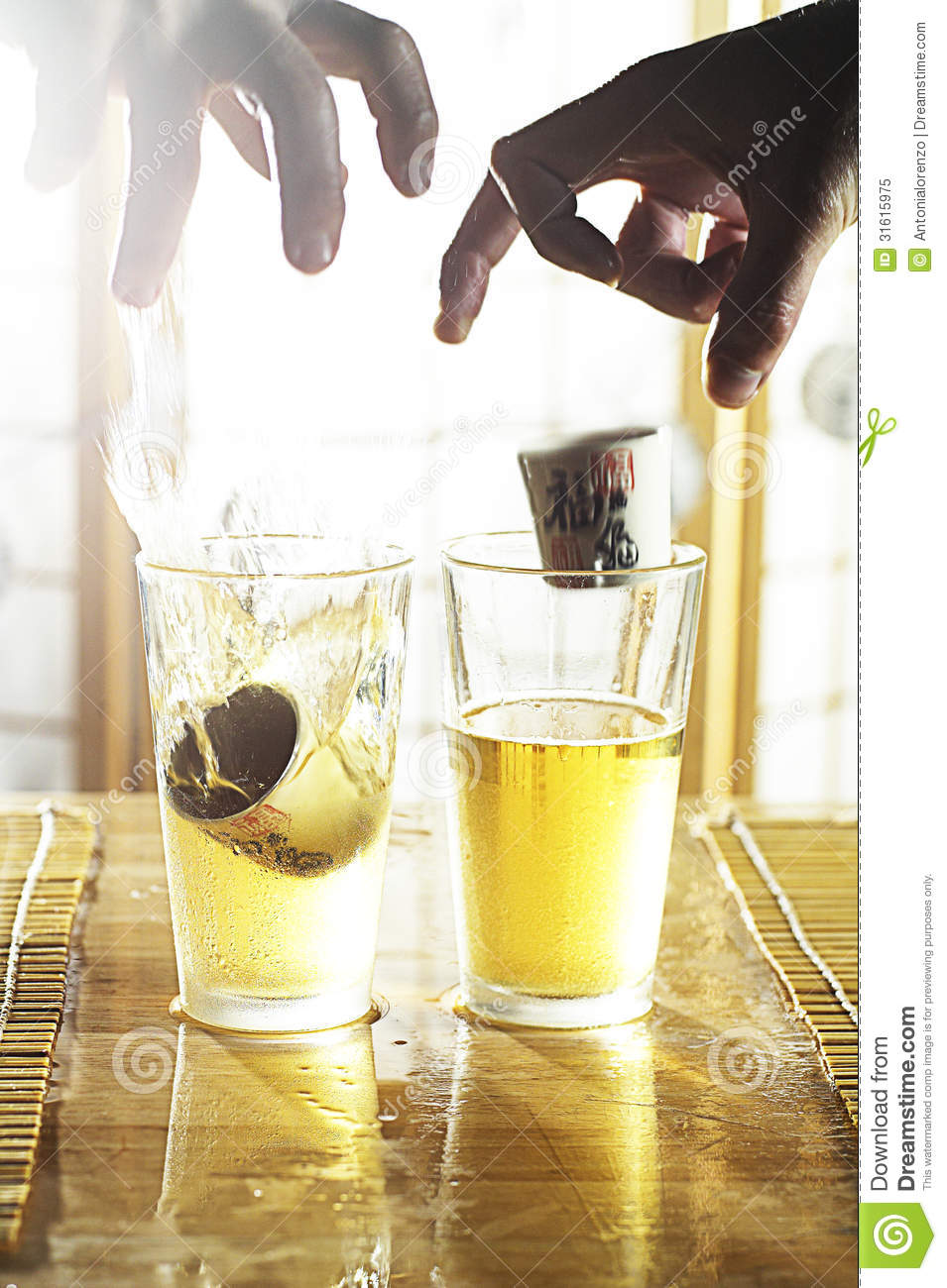 Sake Bomb Royalty Free Stock Photo - Image: 31615975