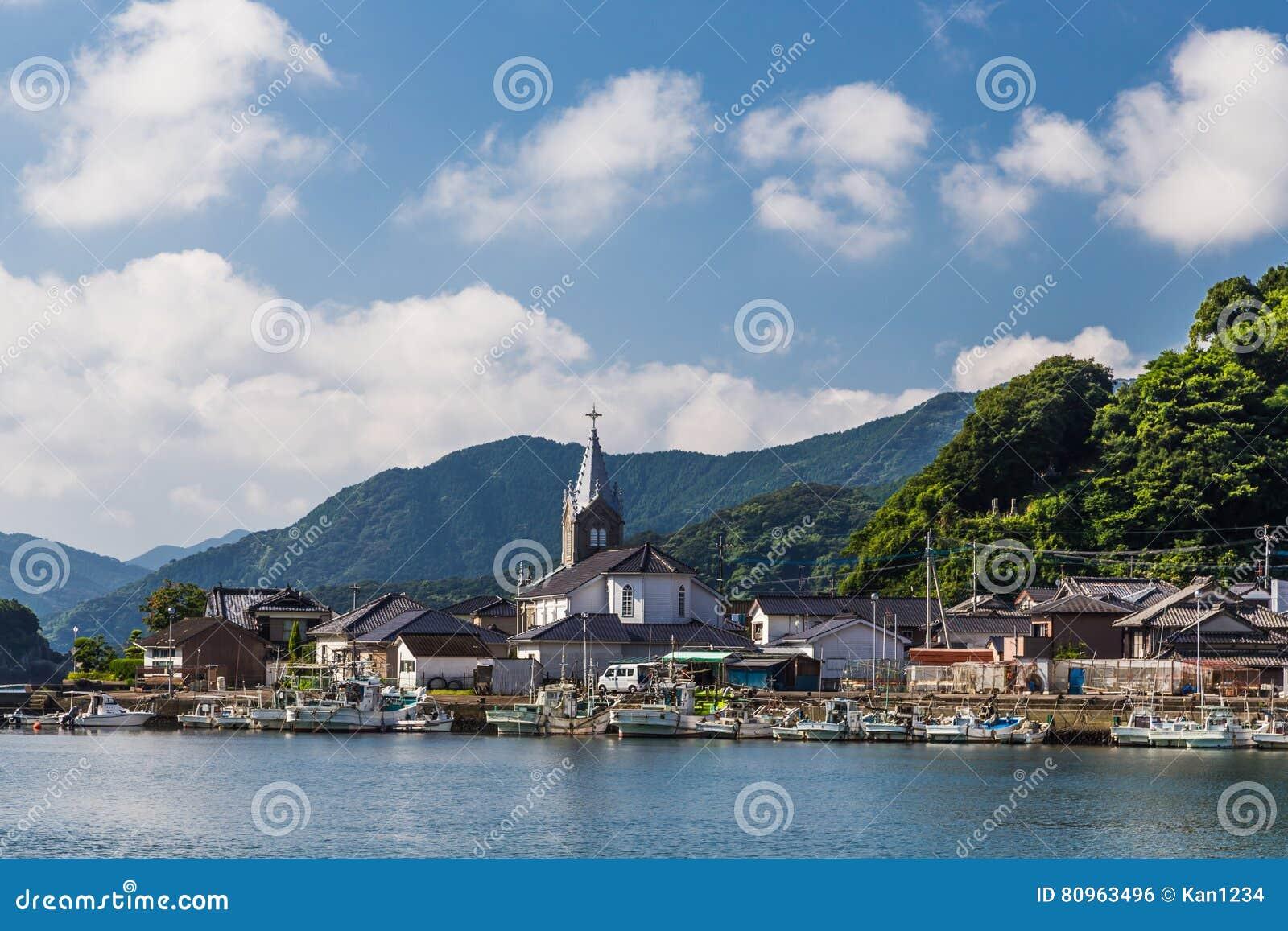 Sakitsu kościół w Amakusa, Kyushu, Japonia