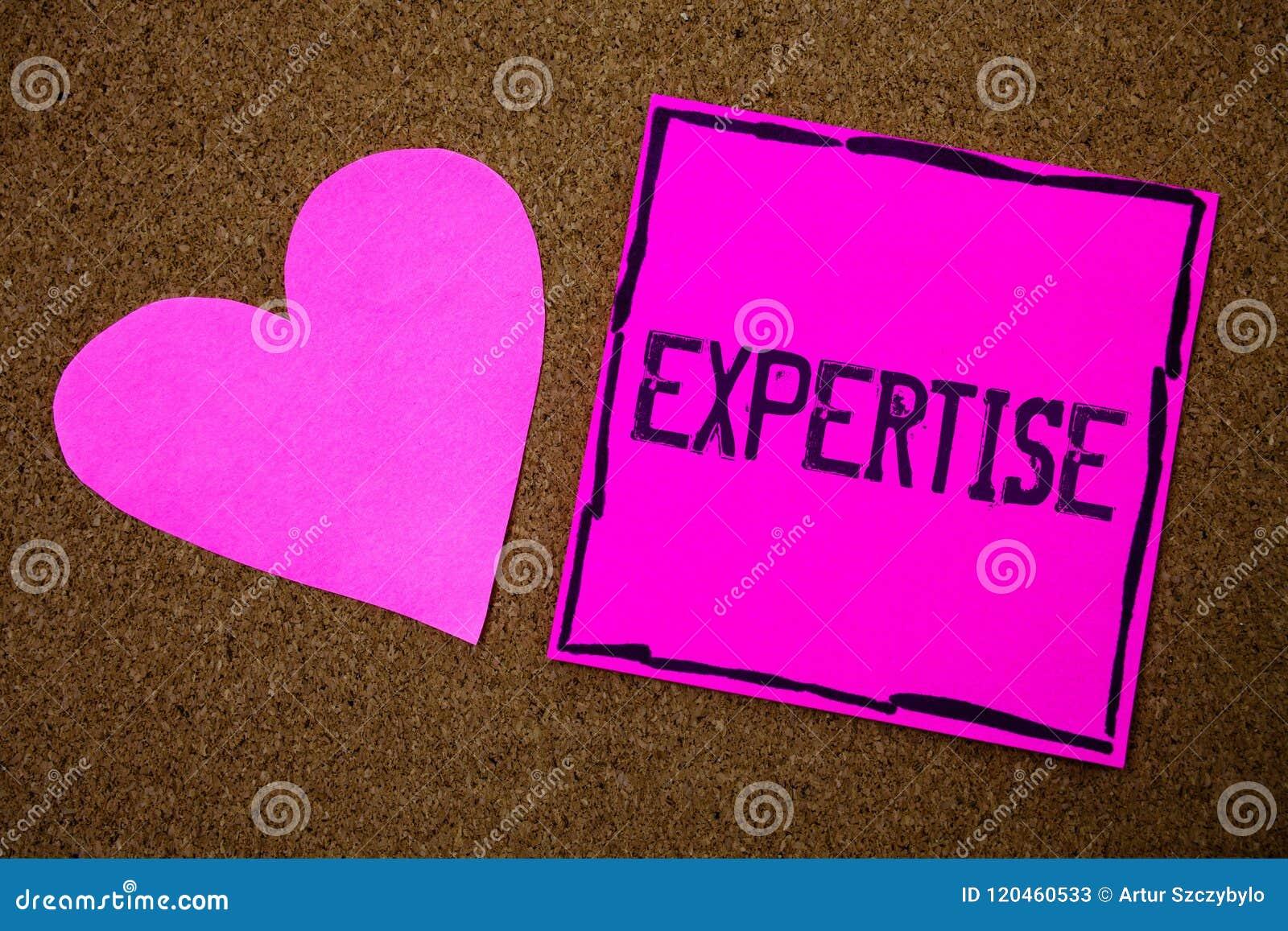 Sakkunskap för handskrifttexthandstil Expertis eller kunskap för begrepp menande sakkunnig i en särskild backgro för kork för vis