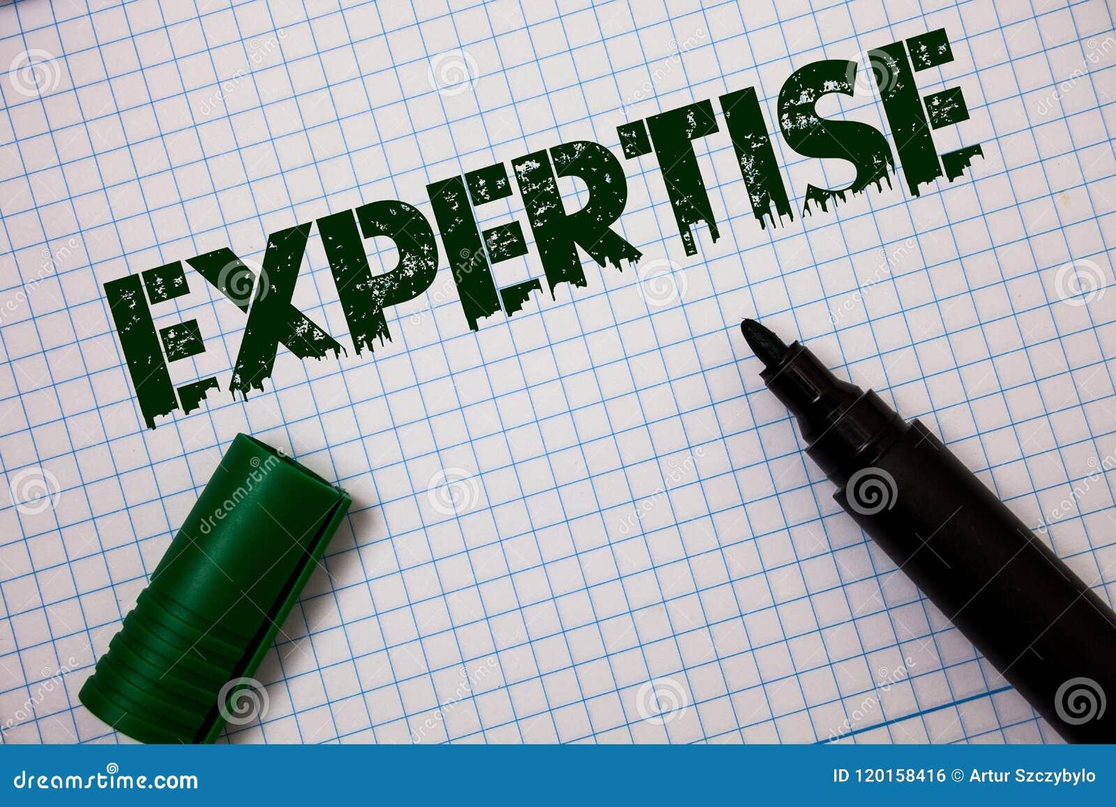 Sakkunskap för ordhandstiltext Affärsidé för sakkunnig expertis eller kunskap i meddelanden för idéer för en vishet för detaljfäl