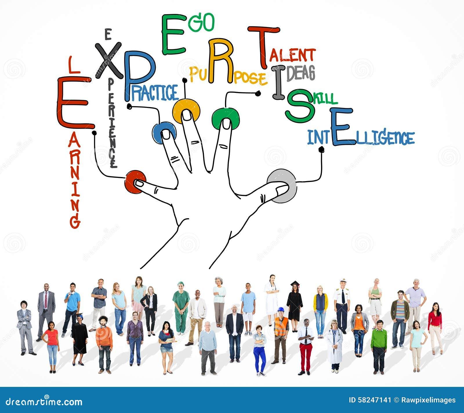 Sakkunskap som lär begrepp för kunskapsexpertisexpert