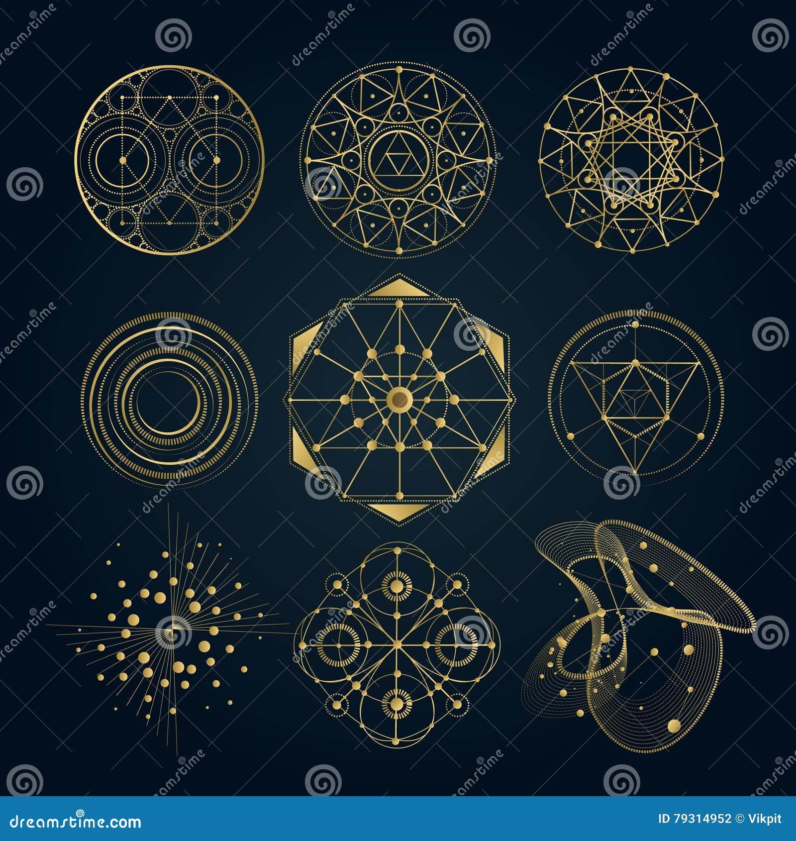 Sakrala geometriformer, former av linjer, logo