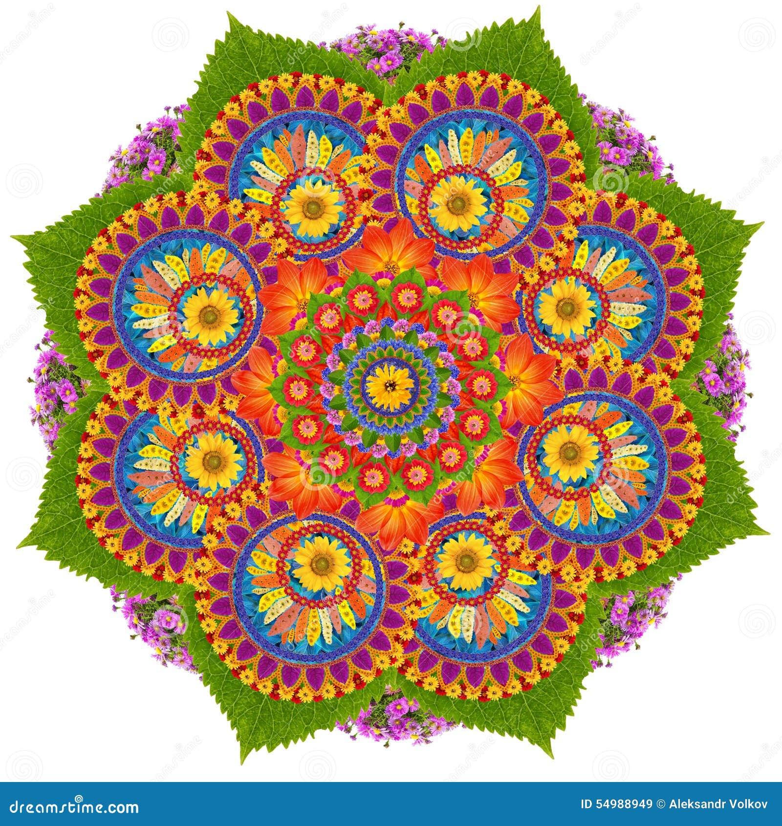 Sakrala Lotus mandalasymbol