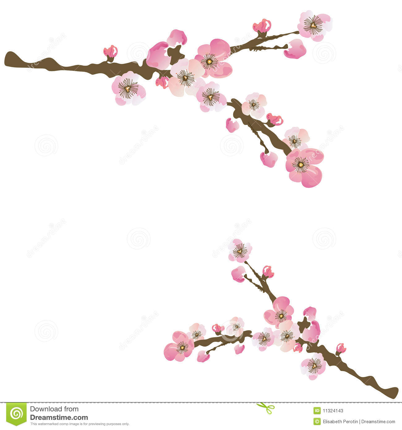 Sakura Stock Photos - ...Japanese Floral Pattern