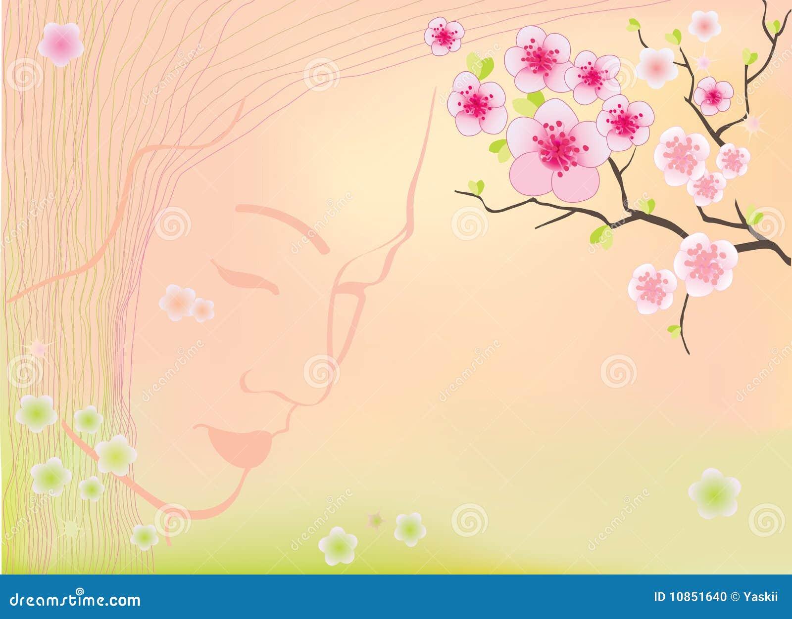 Sakura florece fondo