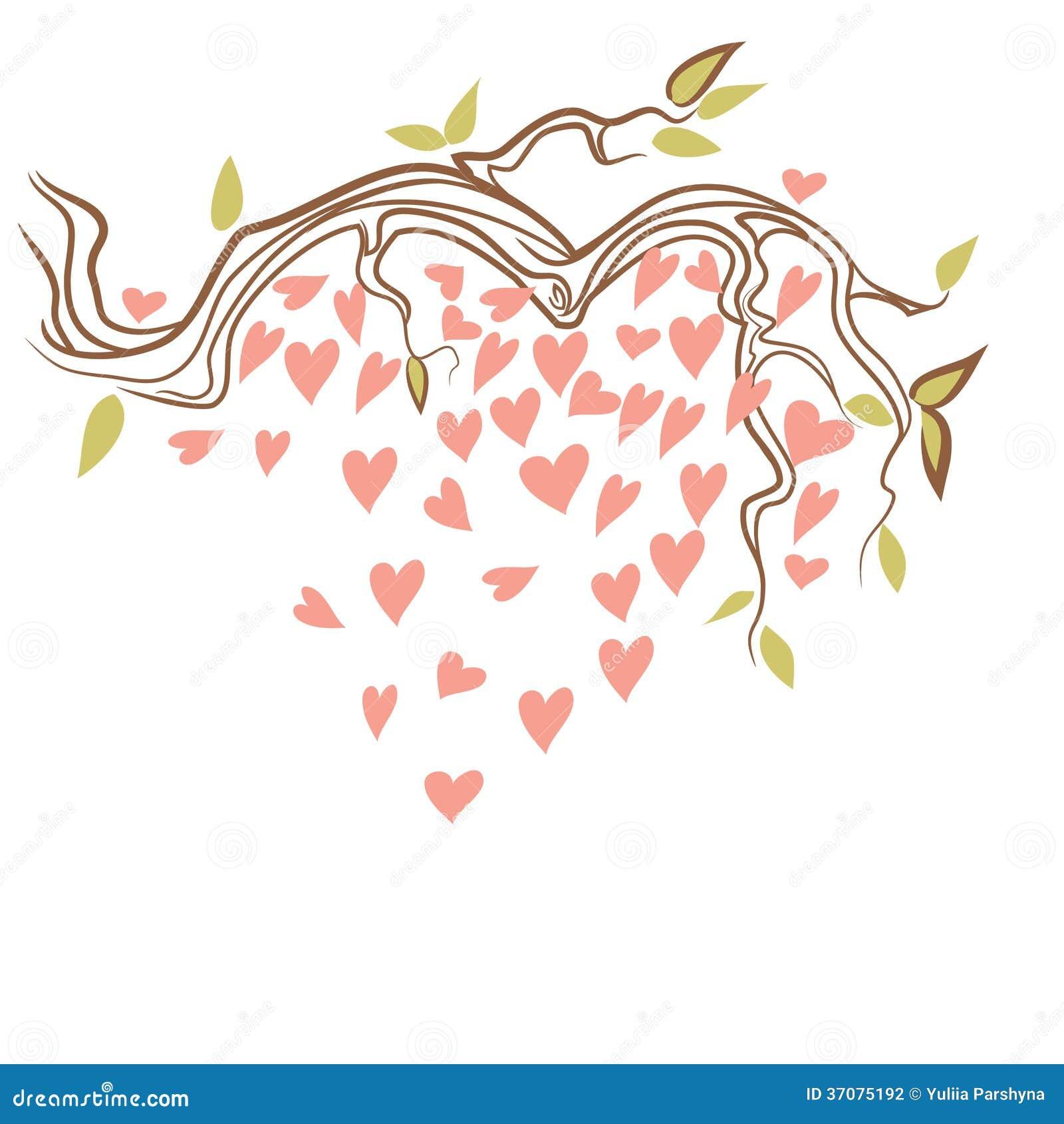 Download Sakura z sercem ilustracji. Ilustracja złożonej z kwiecisty - 37075192