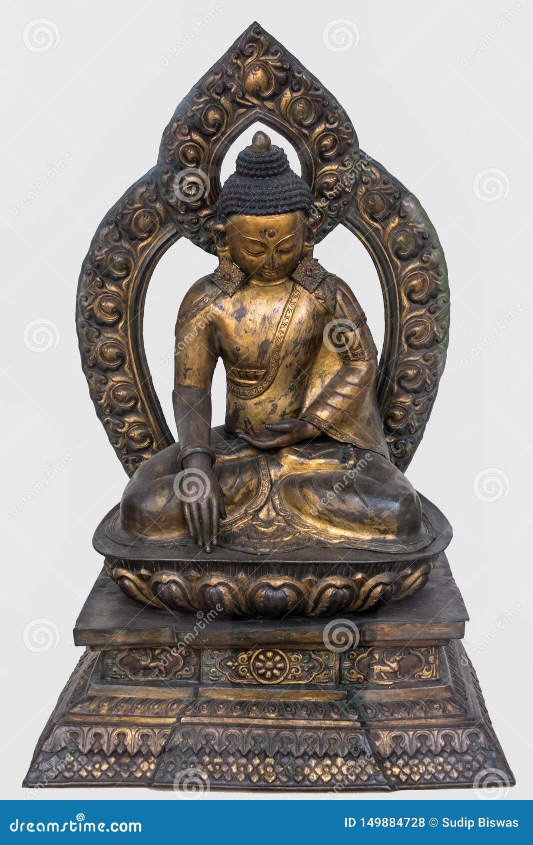 Sakyamuni菩萨,铜被镀金的18世纪,尼泊尔