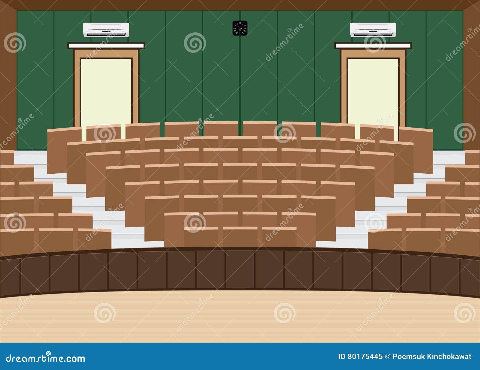 Salão principal da leitura da universidade com uma grande capacidade de assento