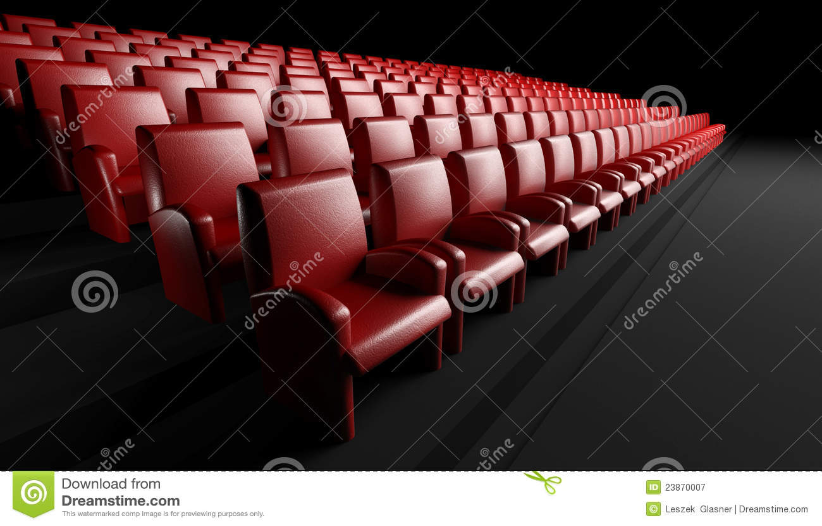 Salão vazio do cinema com auditório