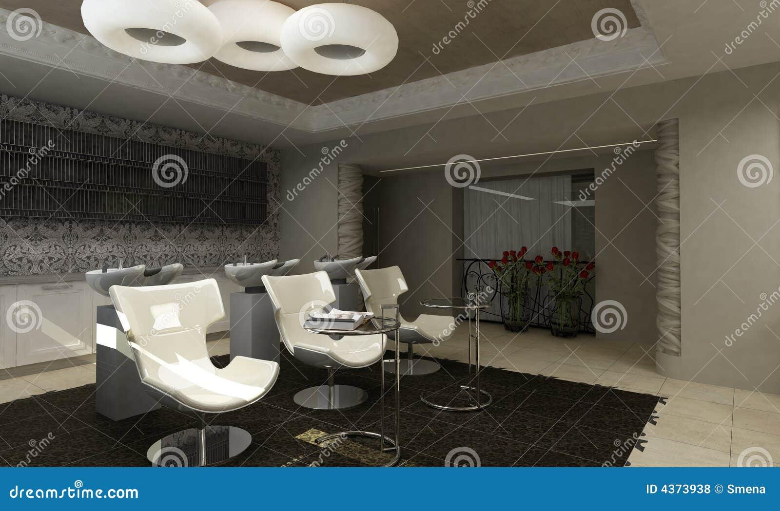 Sal n de belleza moderno del dise o interior stock de - Diseno de salon ...