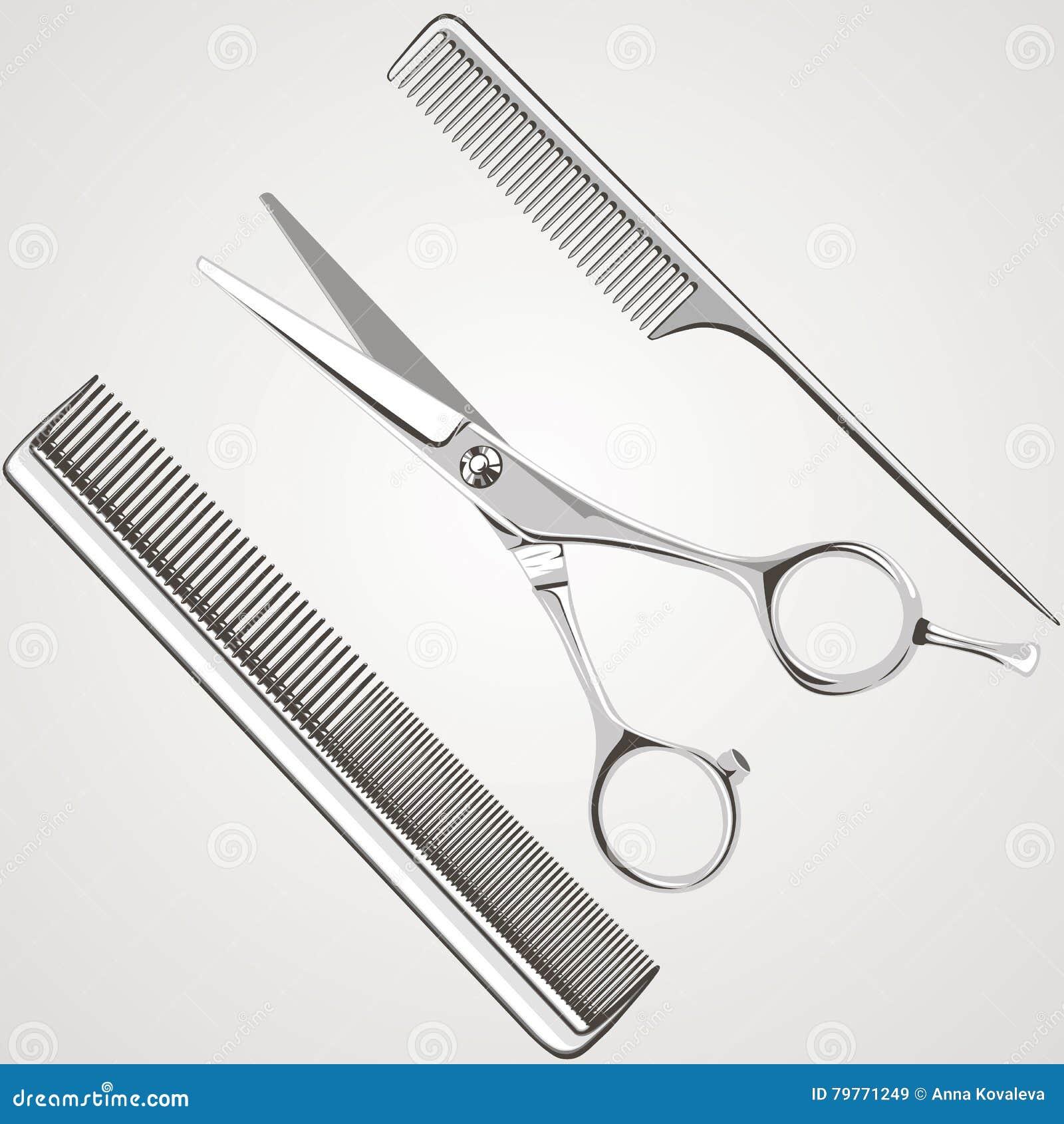 58524e49b9afd El salón de la peluquería scissors el peine
