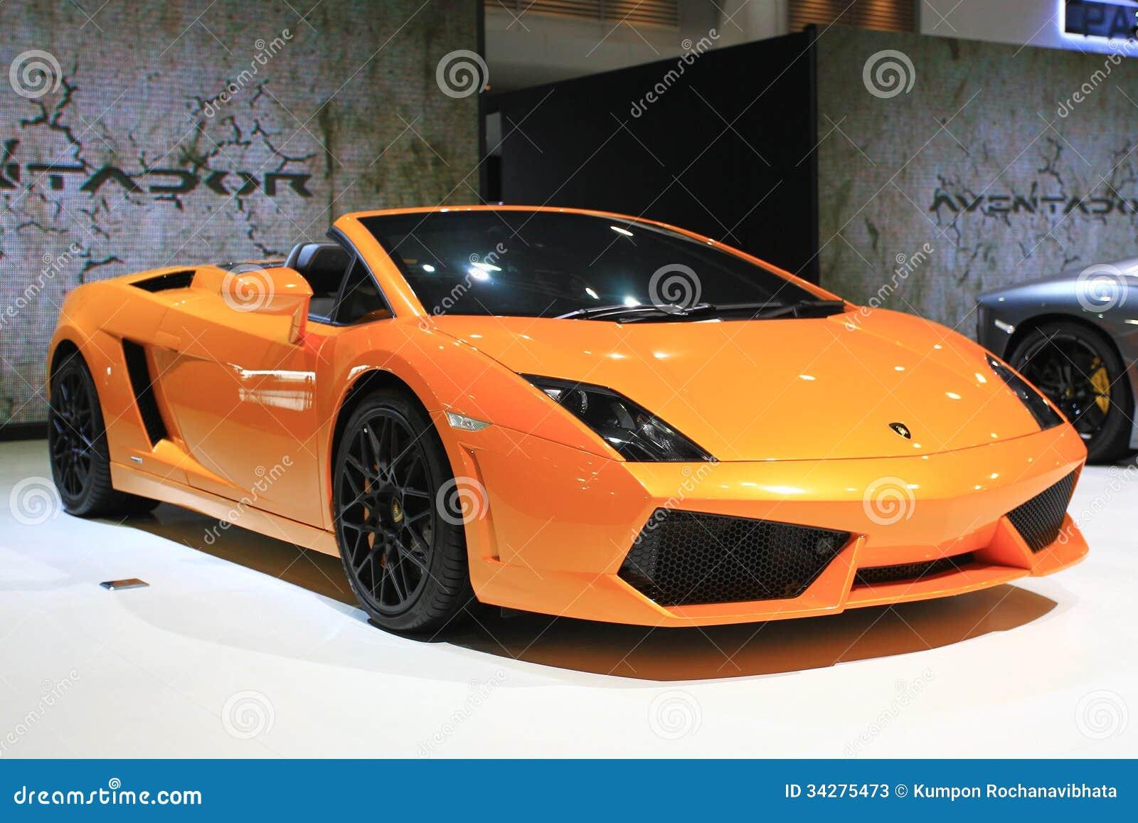 Salón del auto de Bangkok del coche deportivo de Lamborghini AVENTADOR