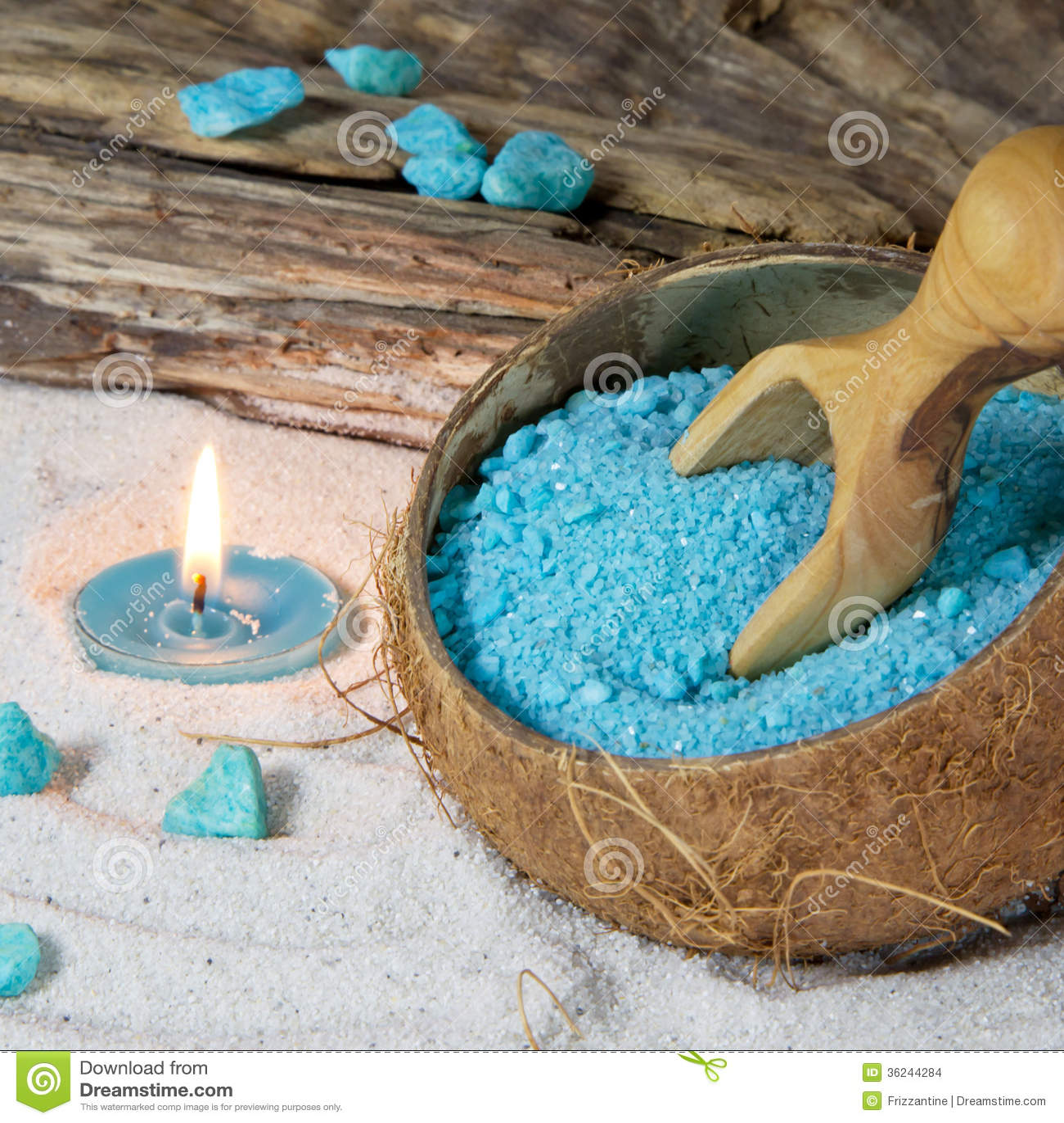 Sal de ba o con la vela arreglo del balneario para la - Bano con velas ...