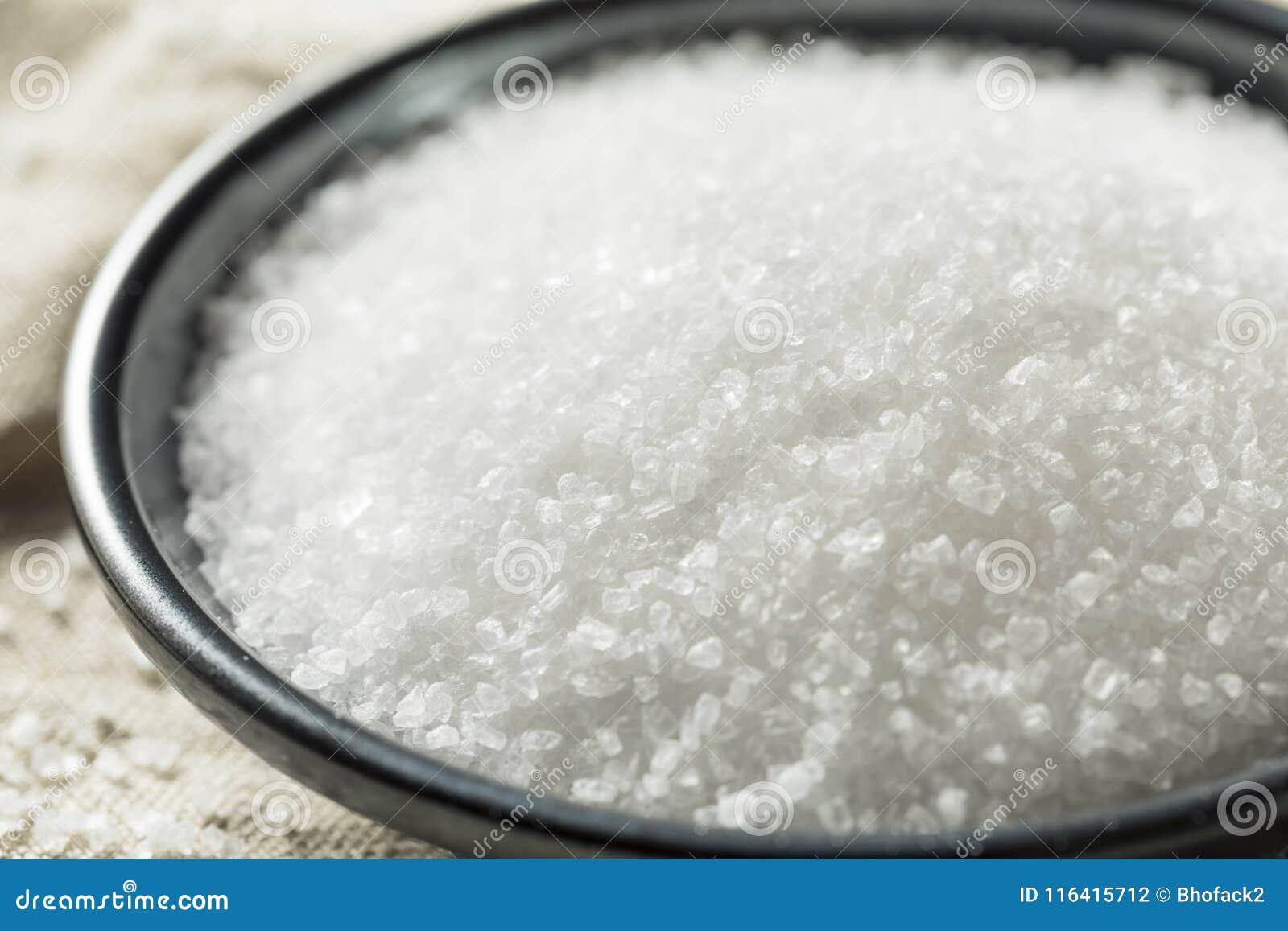 Sal gruesa orgánica del mar
