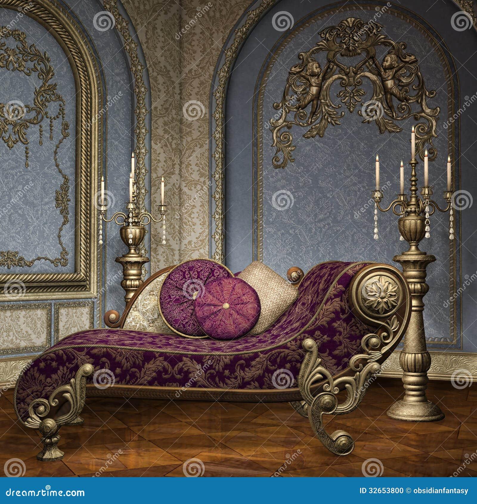 Sala barroco do palácio