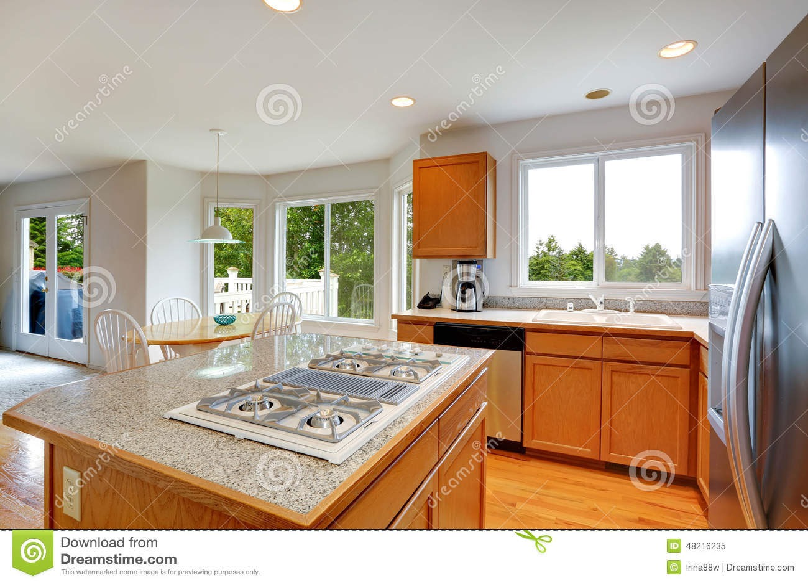 Cozinha Com Ilha Em L Sala Da Cozinha Com A Ilha Da Parte Superior