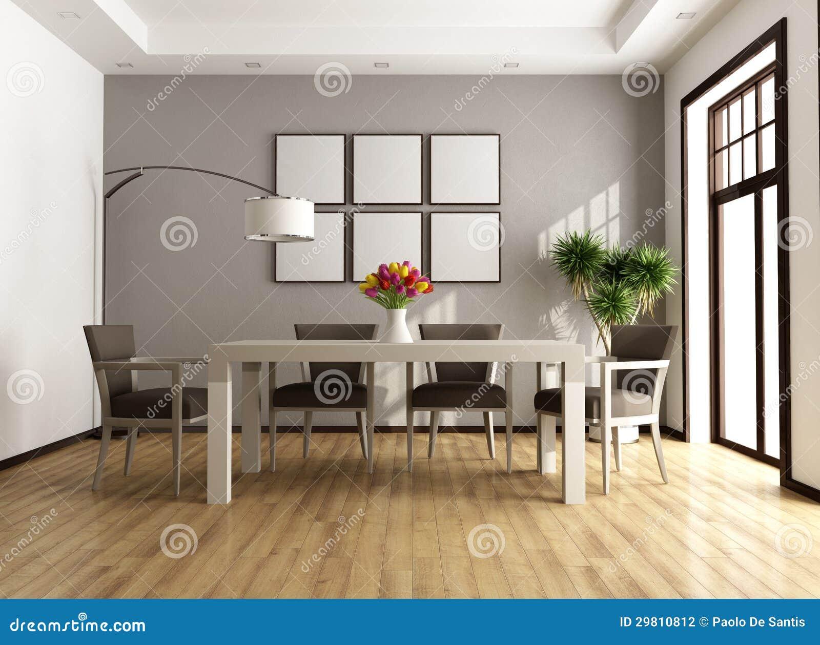 Sala da pranzo contemporanea fotografia stock immagine for Tende beige e marrone