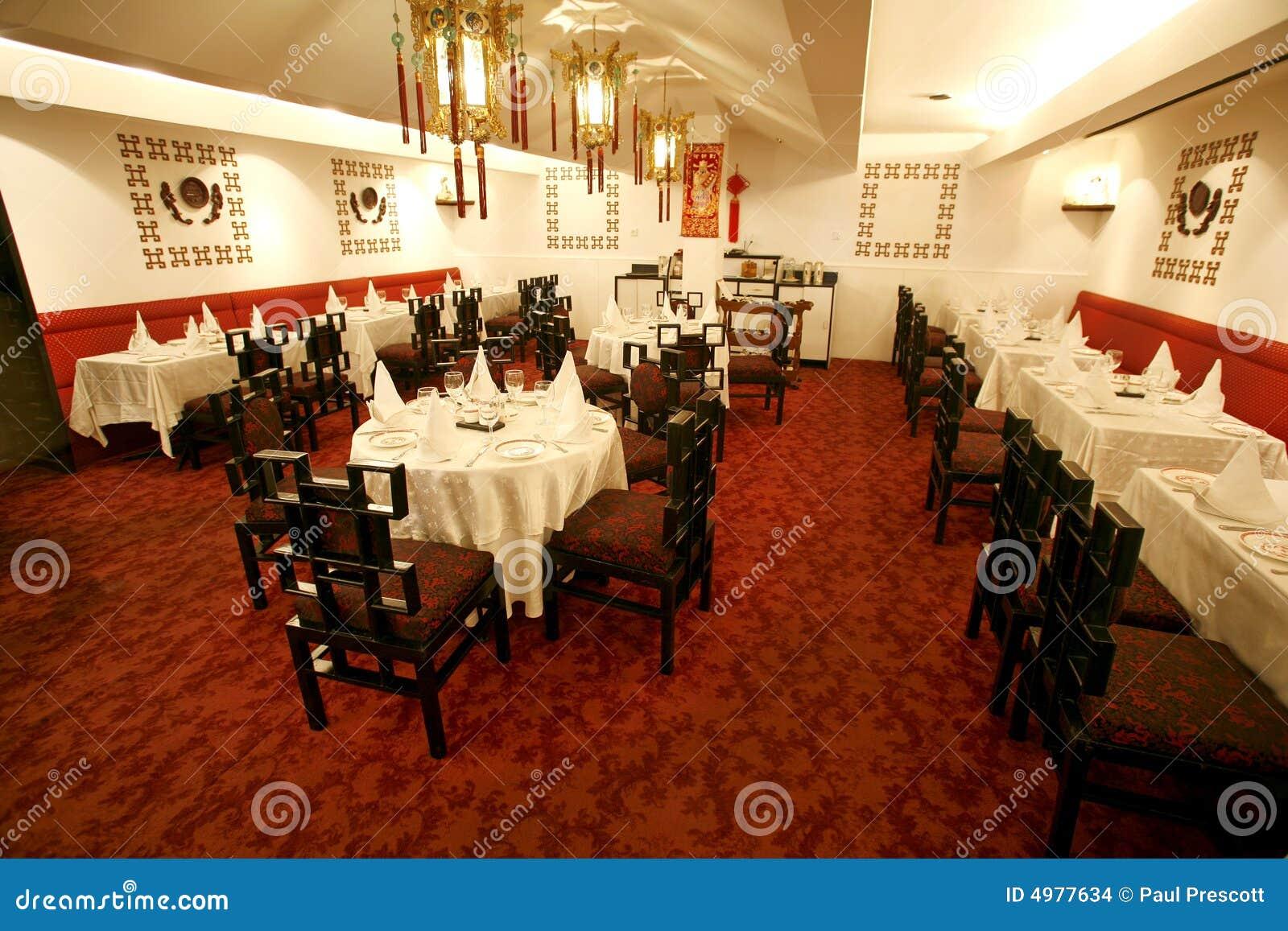 Sala Da Pranzo Cinese Del Ristorante Immagini Stock