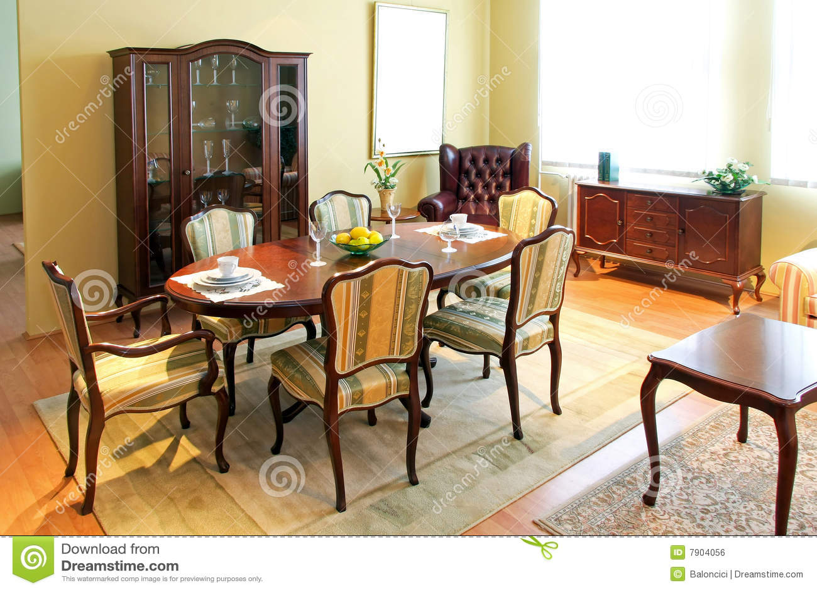 Sala da pranzo classica fotografia stock. Immagine di presidenze ...