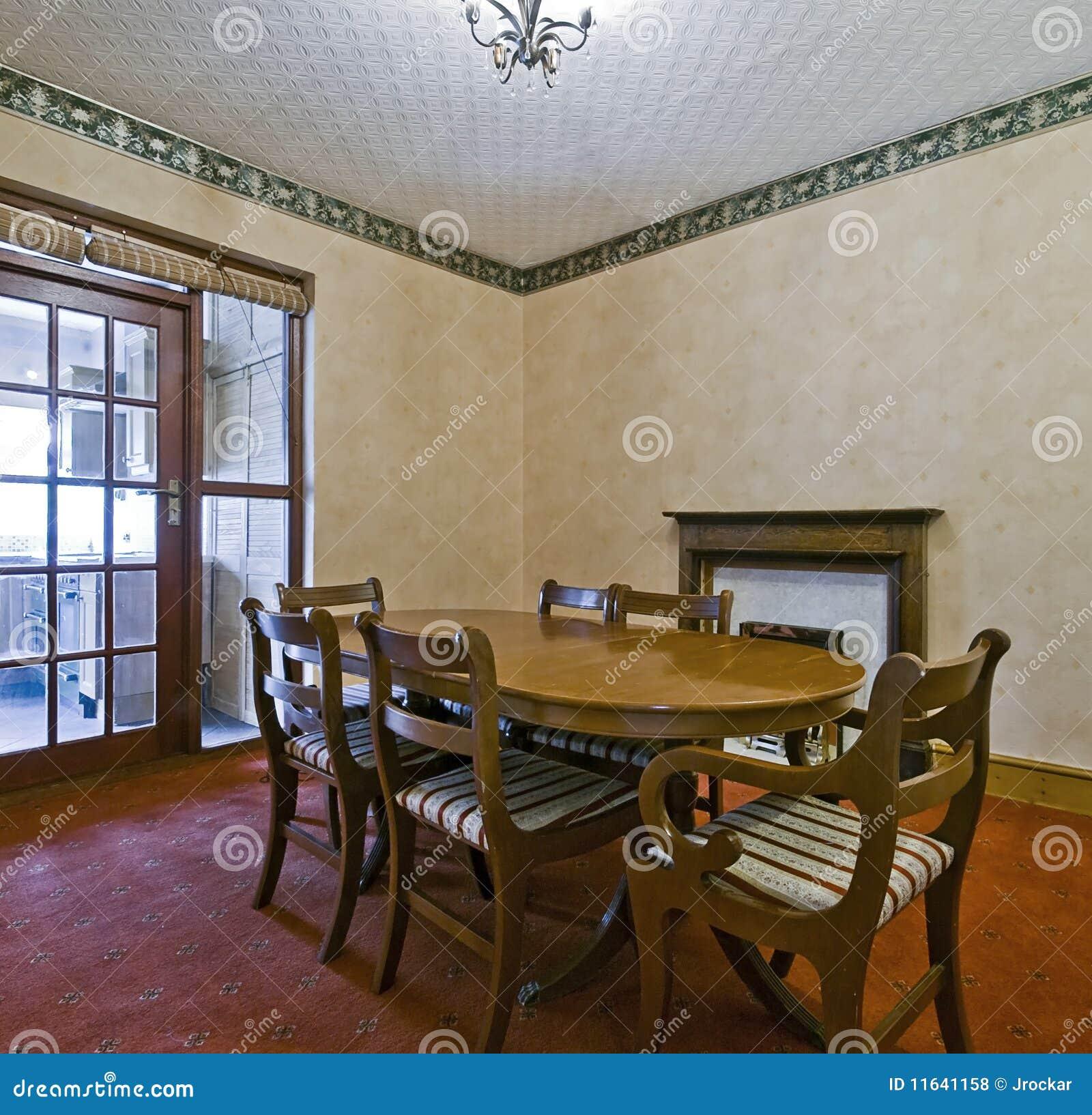 Sala da pranzo classica di stile fotografia stock immagine 11641158 - Sala da pranzo classica ...