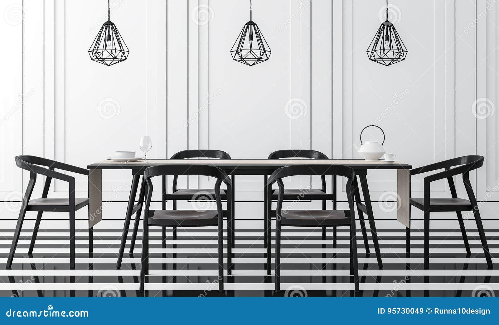 https://thumbs.dreamstime.com/z/sala-da-pranzo-classica-moderna-con-l-immagine-bianco-e-nero-della-rappresentazione-d-95730049.jpg