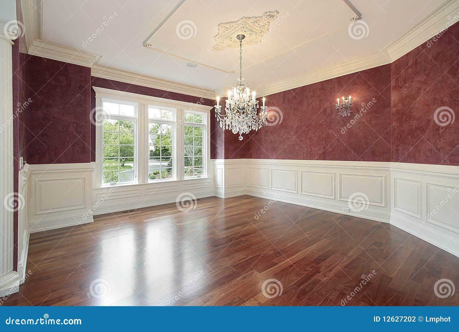 Sala Da Pranzo Con Le Pareti Rosse Fotografia Stock - Immagine: 12627202