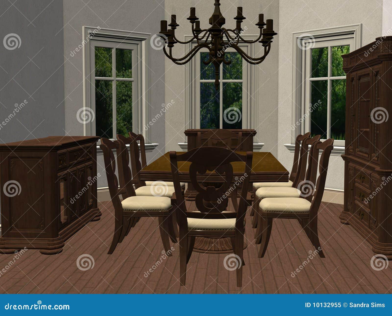 3D Rendono Di Una Sala Da Pranzo Moderna E Contemporanea. 3 Modelli  #85A823 1300 1065 Sala Da Pranzo Arte Contemporanea
